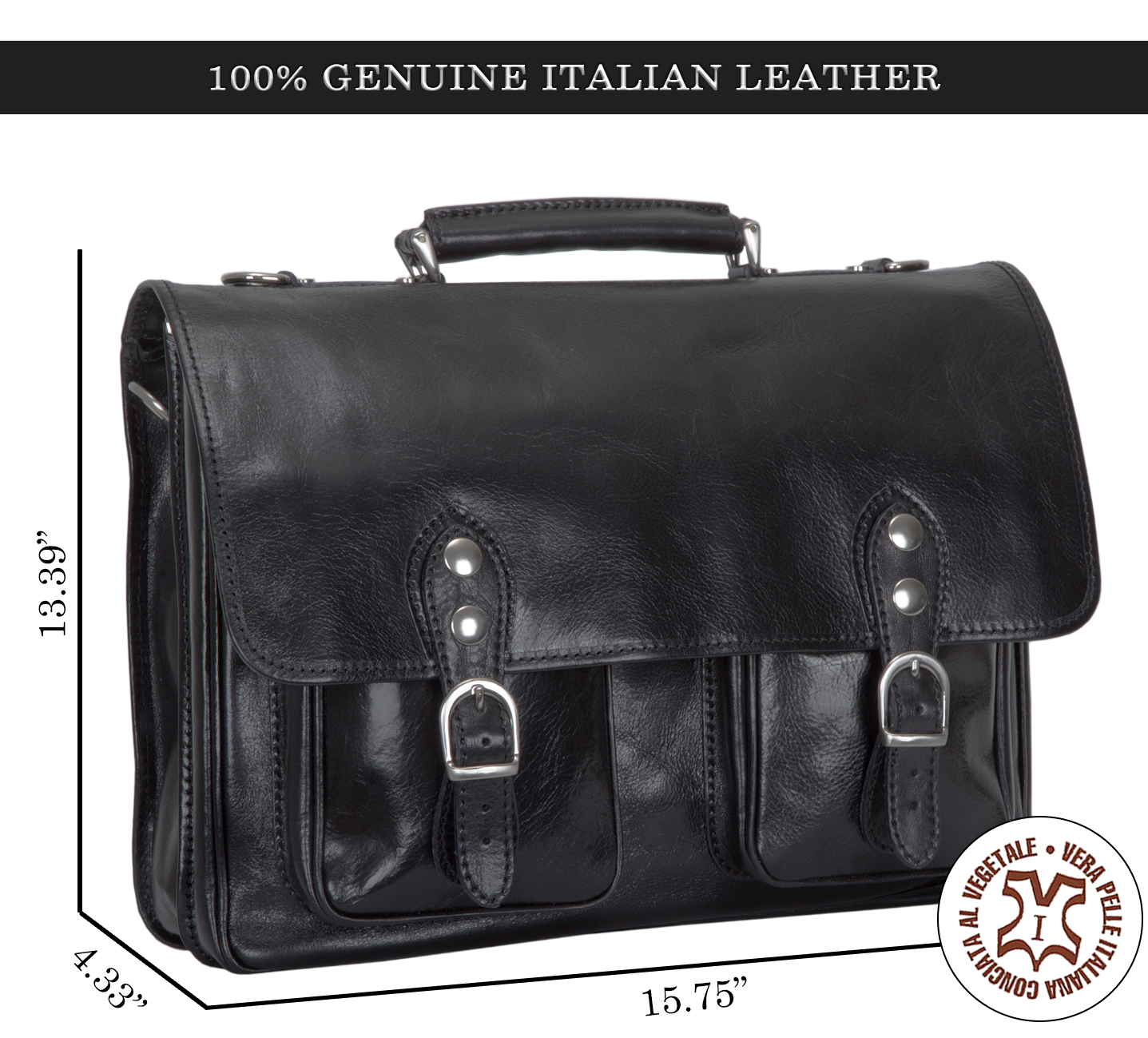 9cb802e3b55 Alberto Bellucci Italian Leather Parma Express Messenger Satchel Bag ...