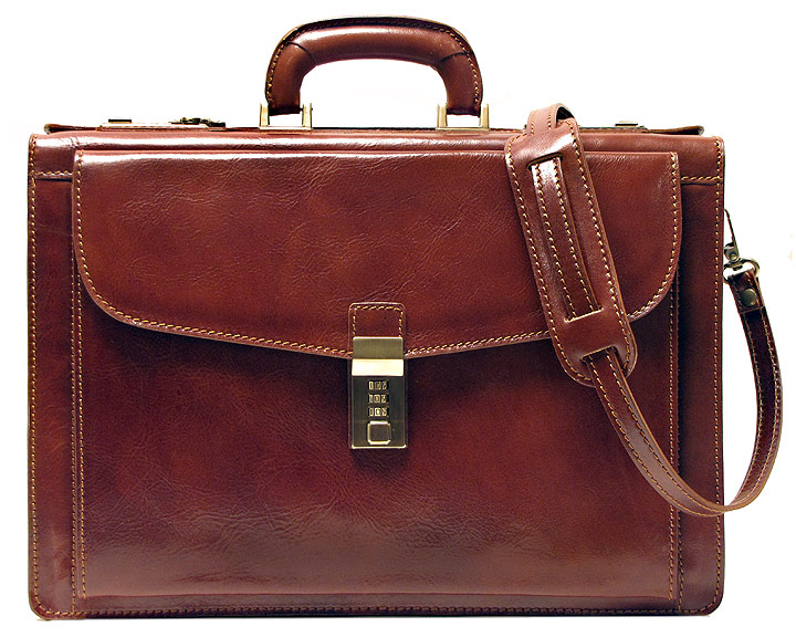 f80218fc0322 Details about Floto Mens Roma Litigator Briefcase