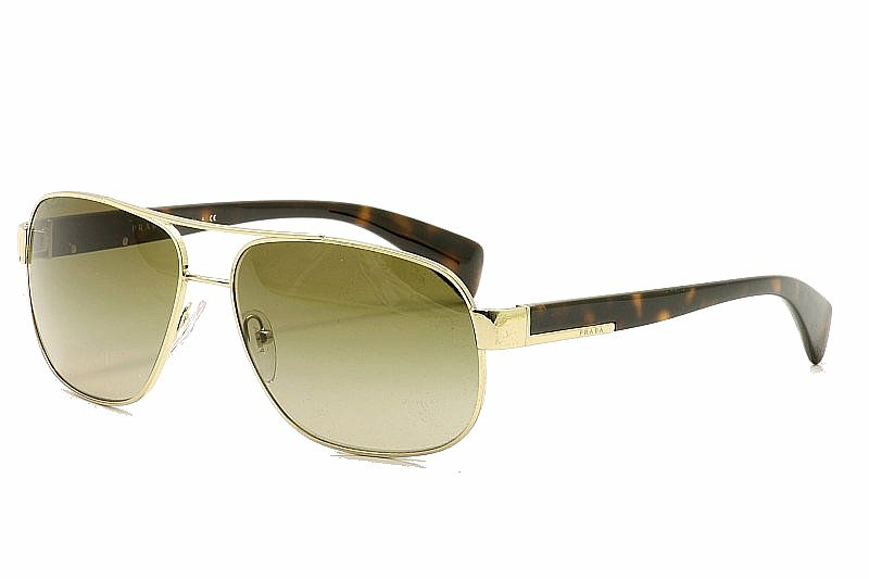 ec44ac24df Prada SPR52P SPR 52P ZVN-1X1 Havana Square Pilot Sunglasses 61MM ...