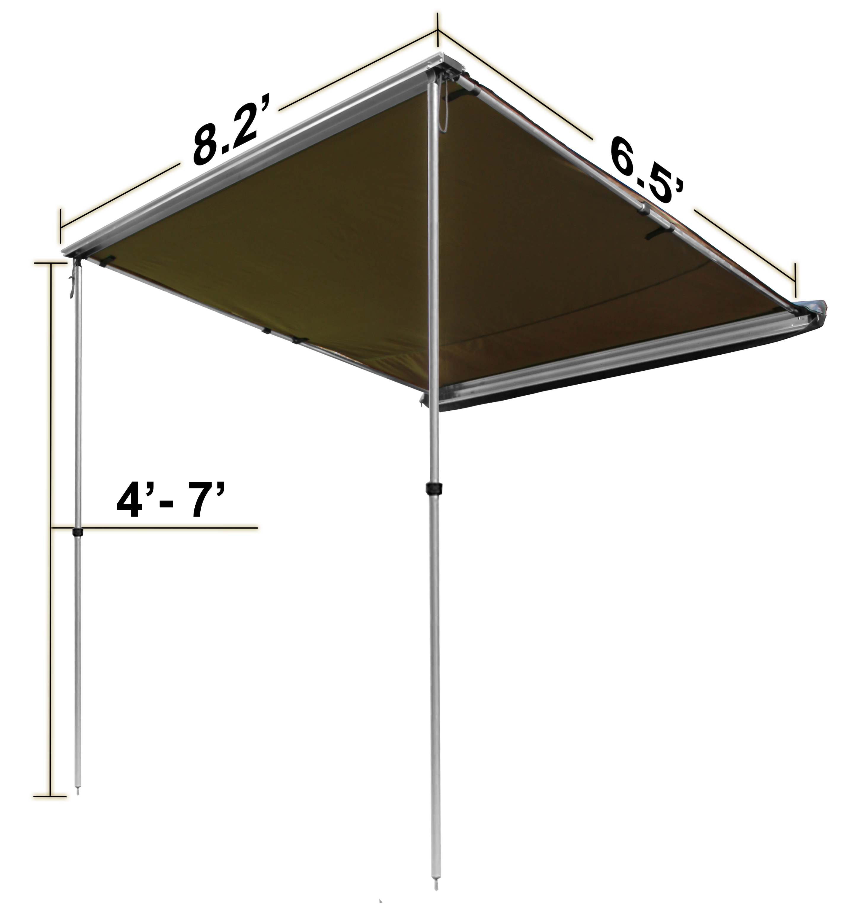 OffGrid Retractable Sun Shade Pull Out Roof Top Awning ...