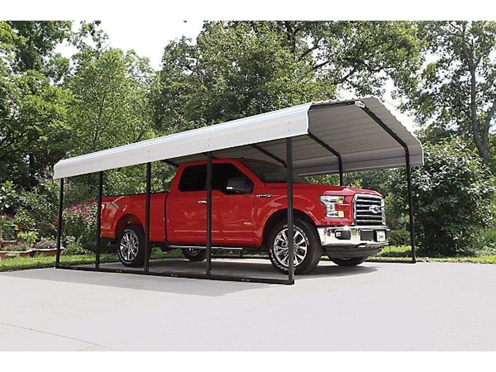 12x20x7 Arrow Shed ShelterLogic Metal Carport Canopy ...