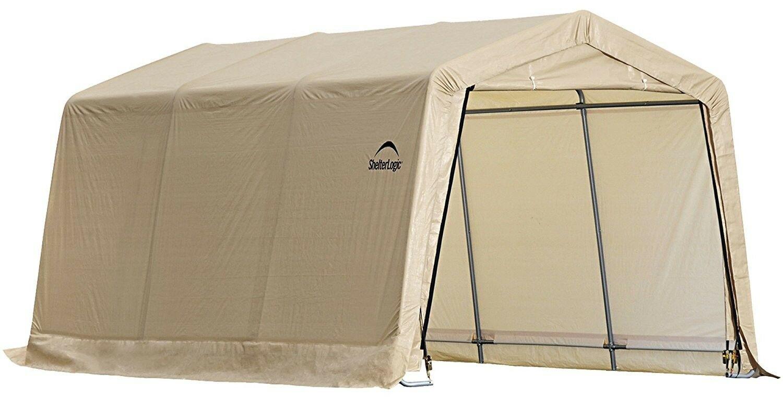 ShelterLogic-AutoShelter-10-x-15-x-8-ft-Instant-Garage-Tan-10x15