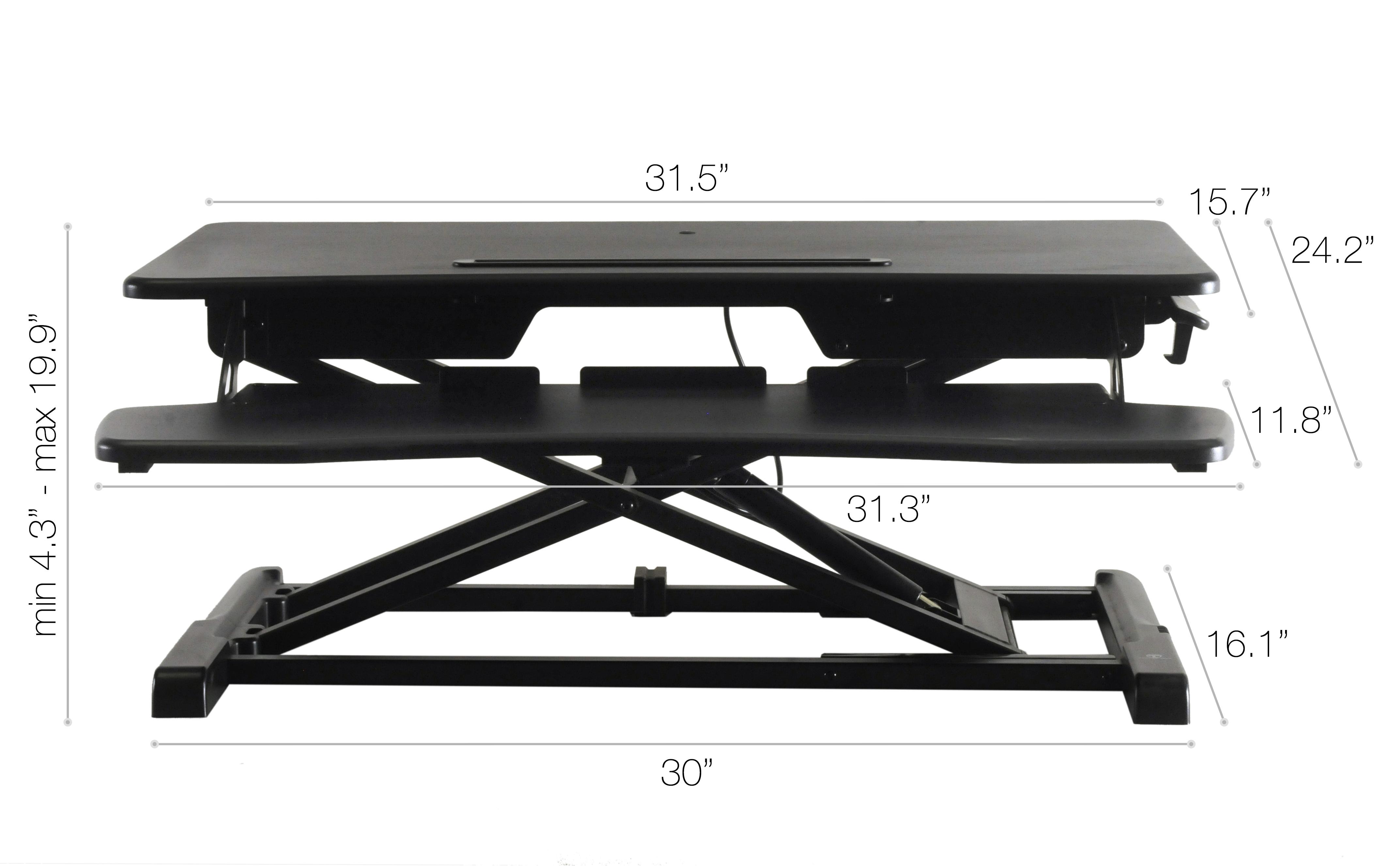 Rise-X-Light-Standing-Desk-Stand-Up-Desk-Height-Adjustable-Desk-Converter thumbnail 8