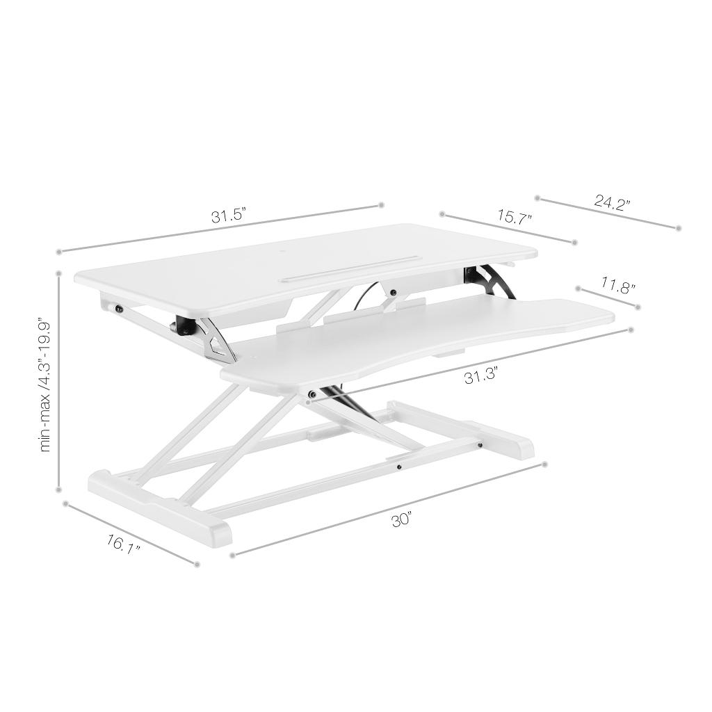 Rise-X-Light-Standing-Desk-Stand-Up-Desk-Height-Adjustable-Desk-Converter thumbnail 14