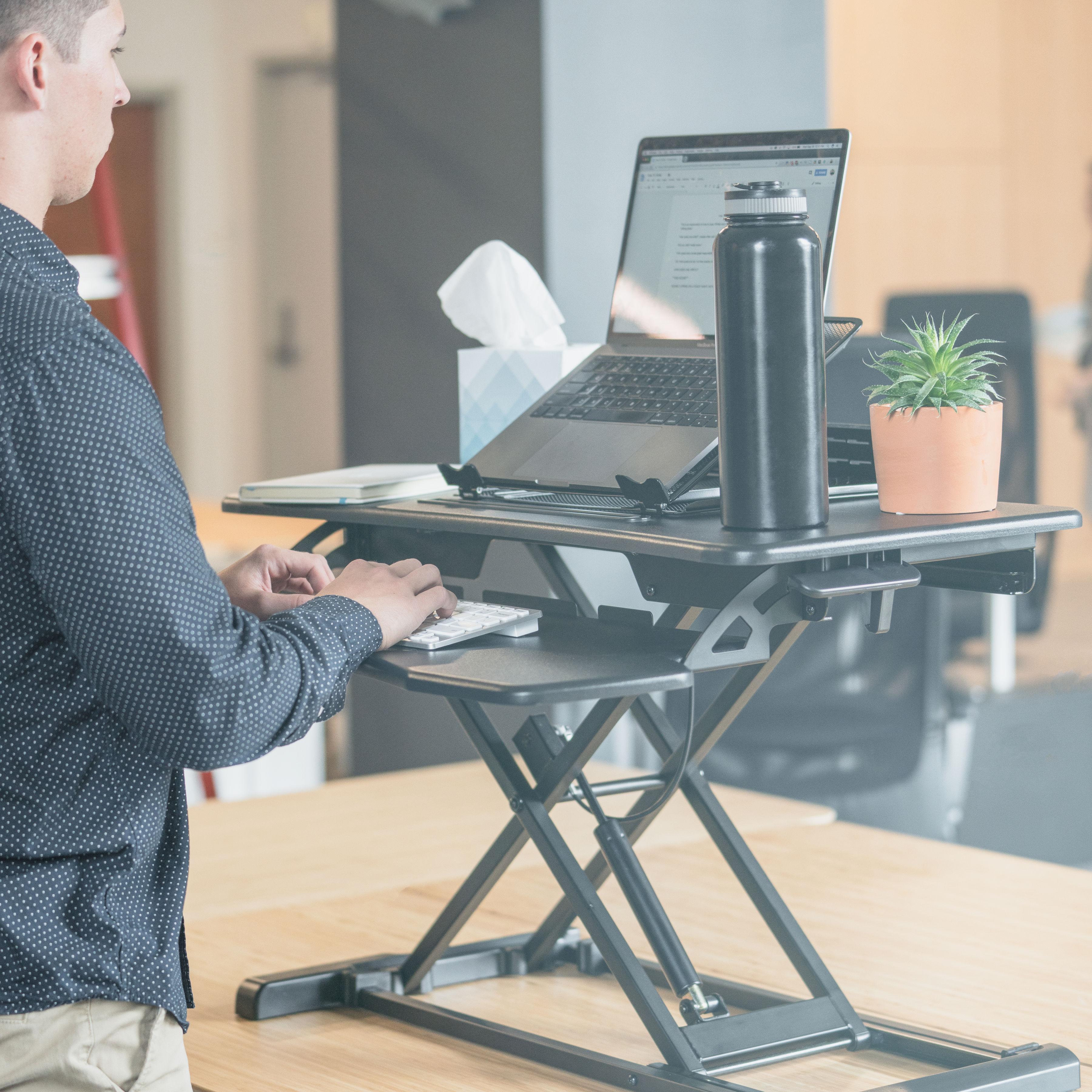 Rise-X-Light-Standing-Desk-Stand-Up-Desk-Height-Adjustable-Desk-Converter thumbnail 10