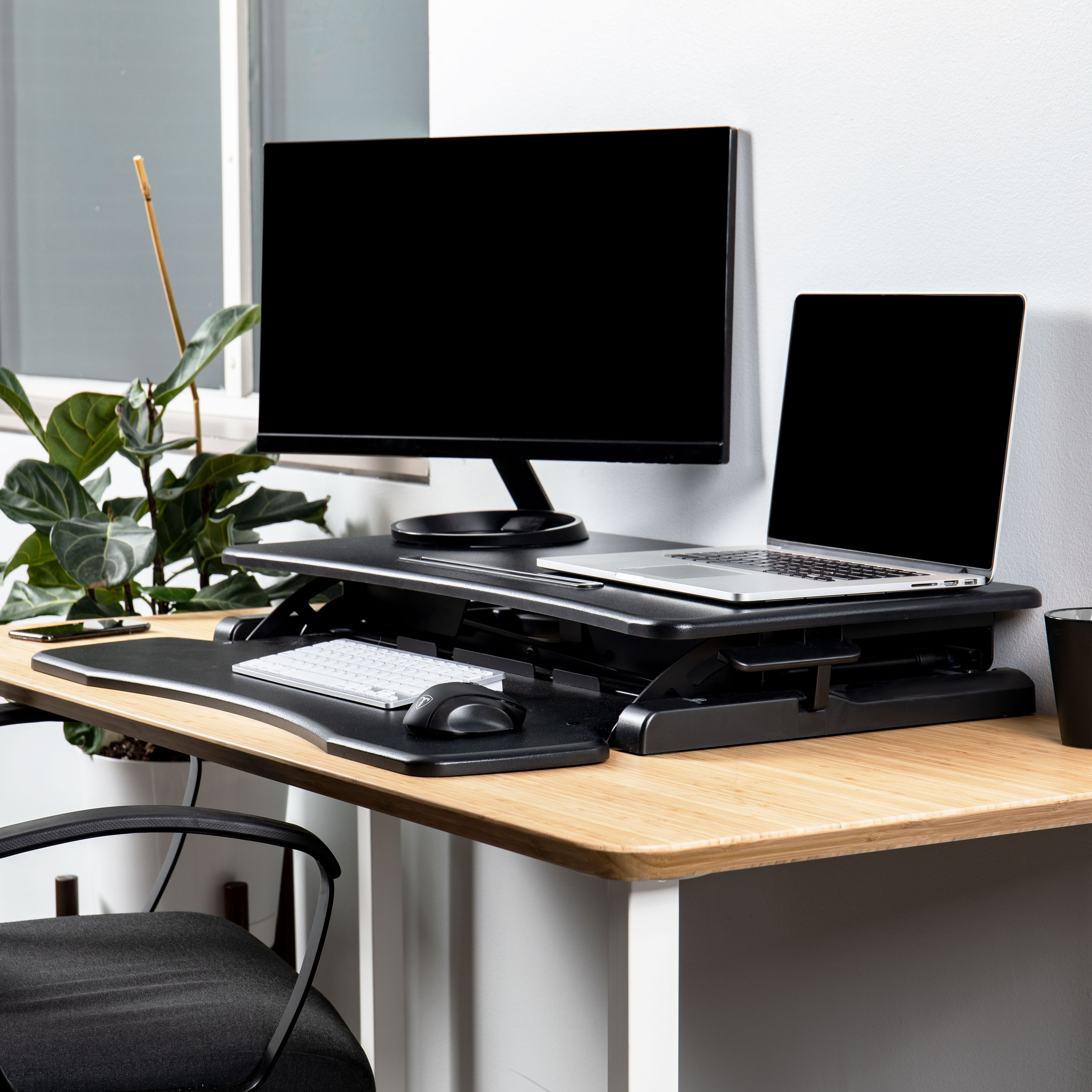 Rise-X-Light-Standing-Desk-Stand-Up-Desk-Height-Adjustable-Desk-Converter thumbnail 12