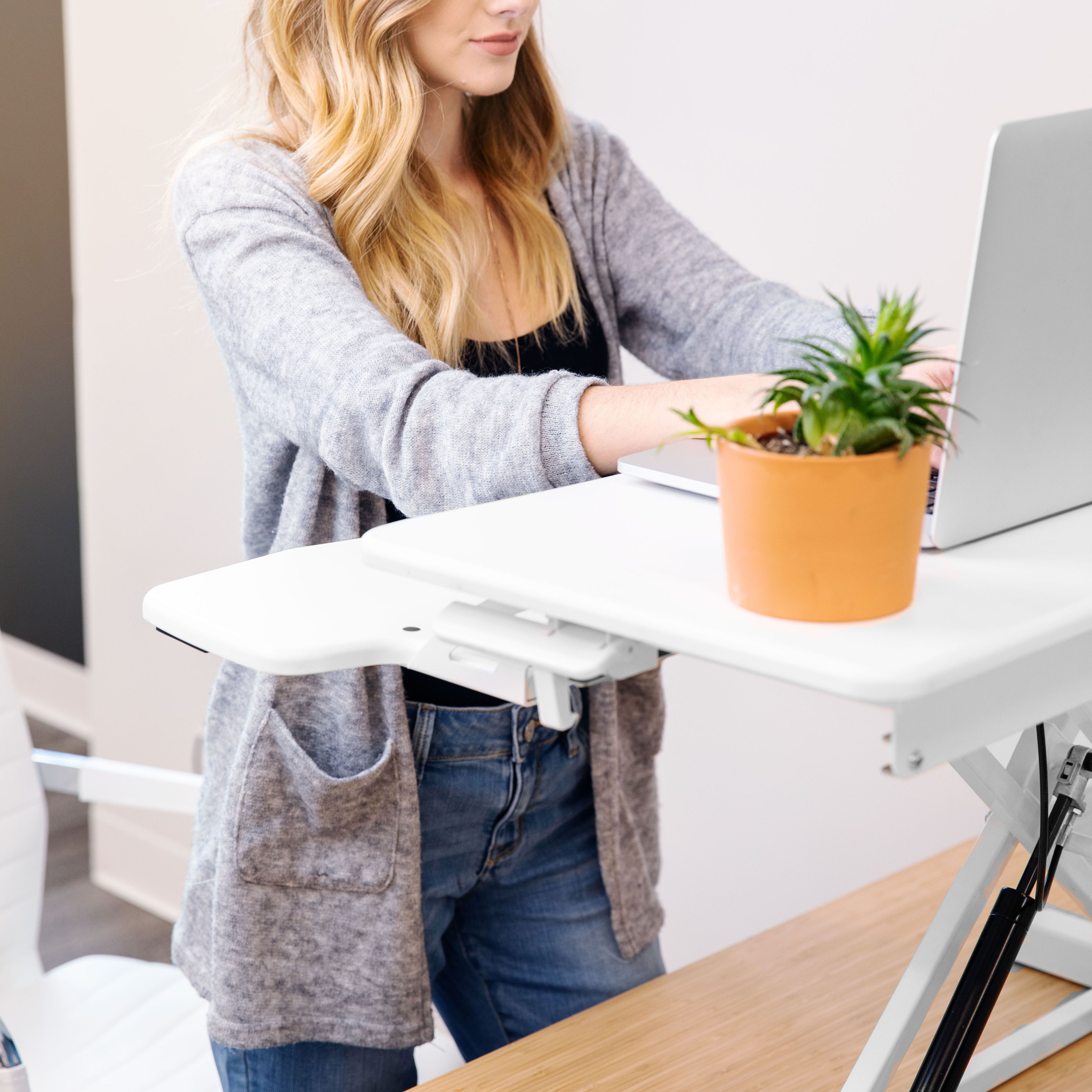 Rise-X-Light-Standing-Desk-Stand-Up-Desk-Height-Adjustable-Desk-Converter thumbnail 15