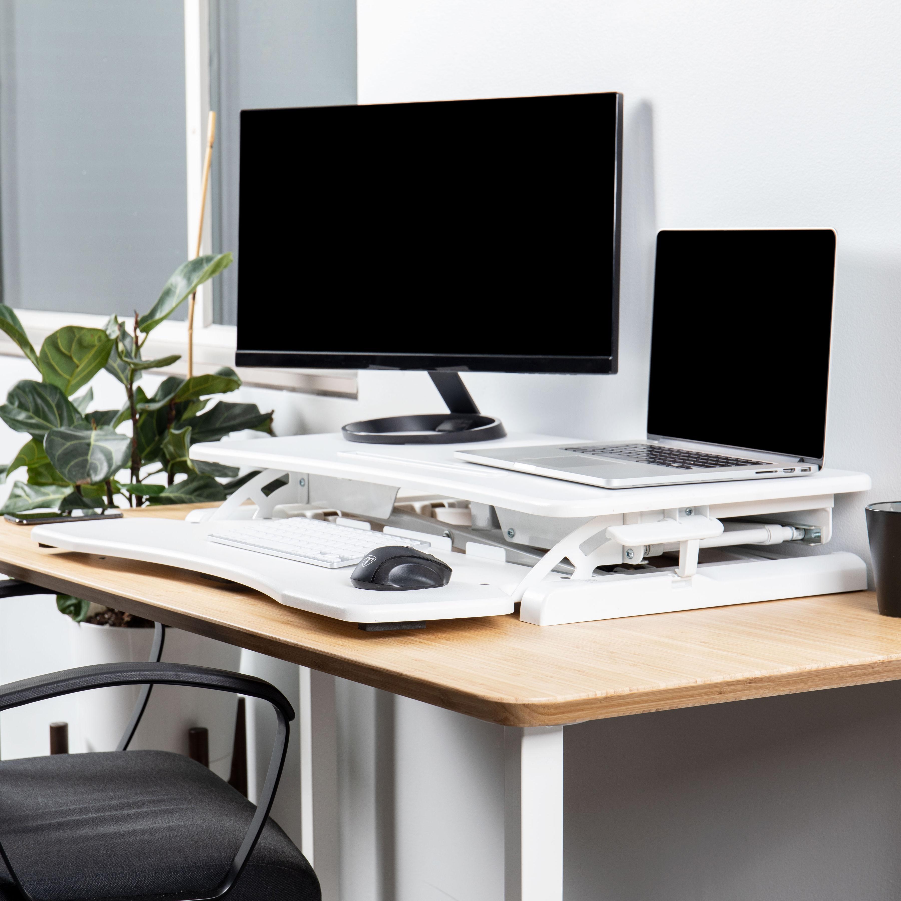 Rise-X-Light-Standing-Desk-Stand-Up-Desk-Height-Adjustable-Desk-Converter thumbnail 18