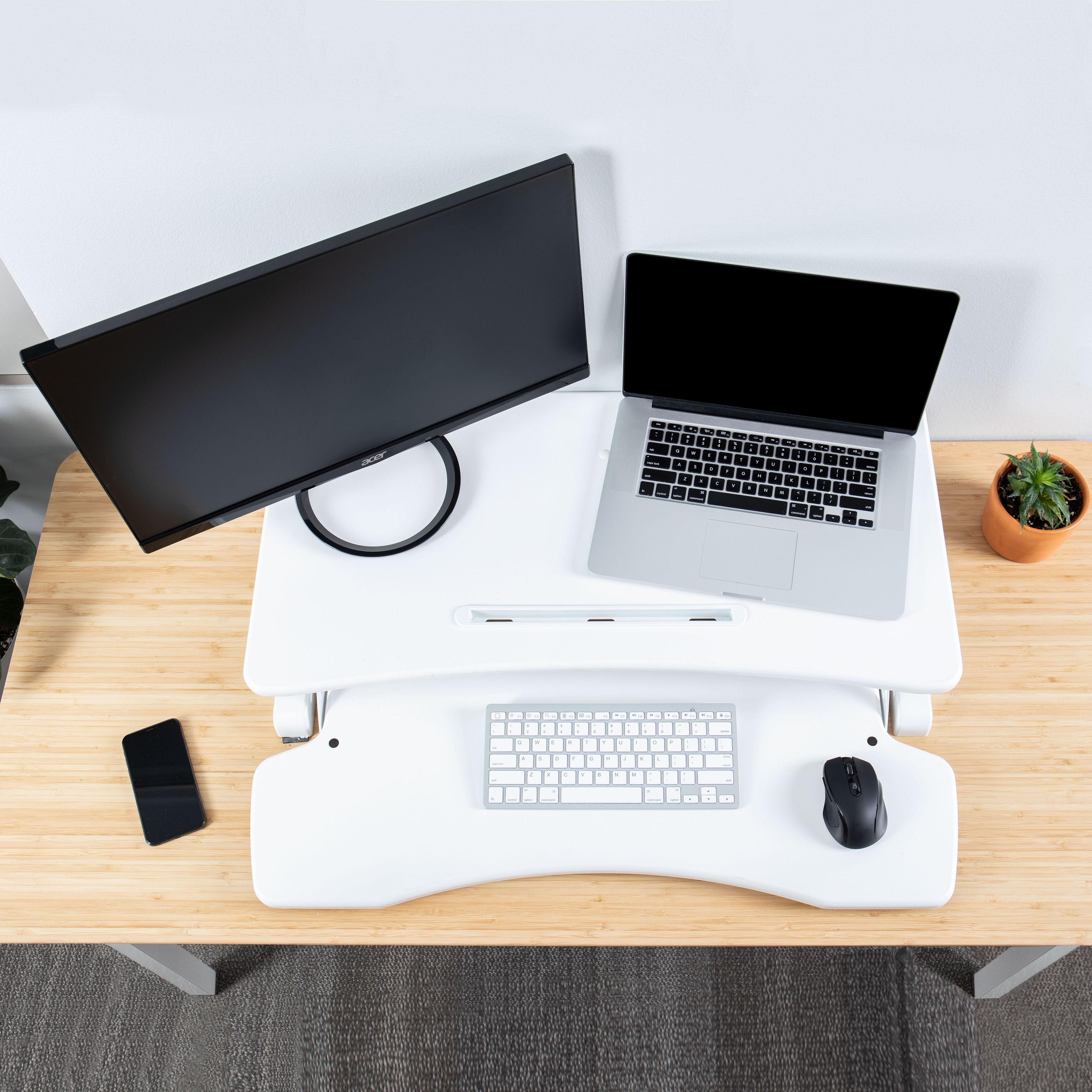 Rise-X-Light-Standing-Desk-Stand-Up-Desk-Height-Adjustable-Desk-Converter thumbnail 17