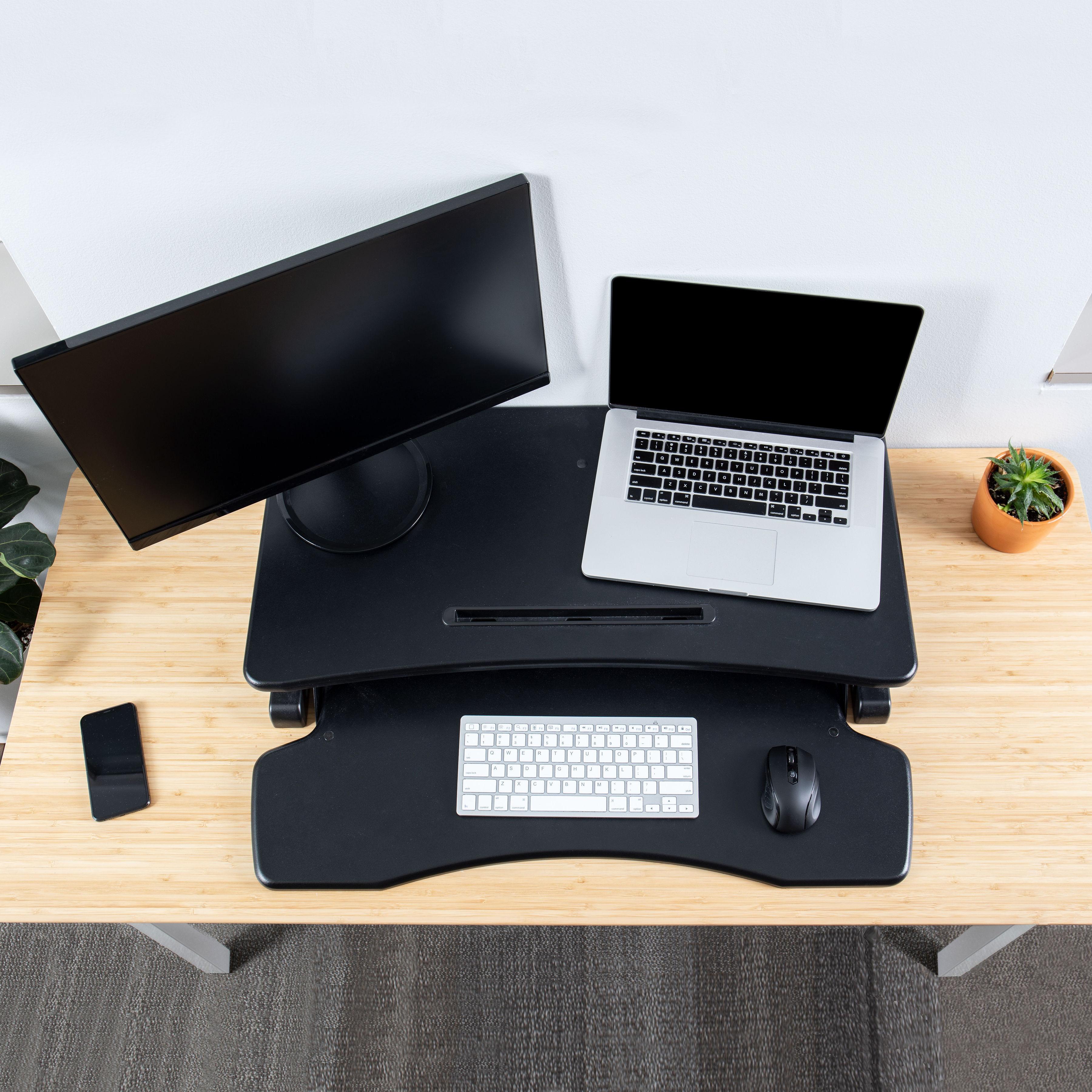Rise-X-Light-Standing-Desk-Stand-Up-Desk-Height-Adjustable-Desk-Converter thumbnail 11