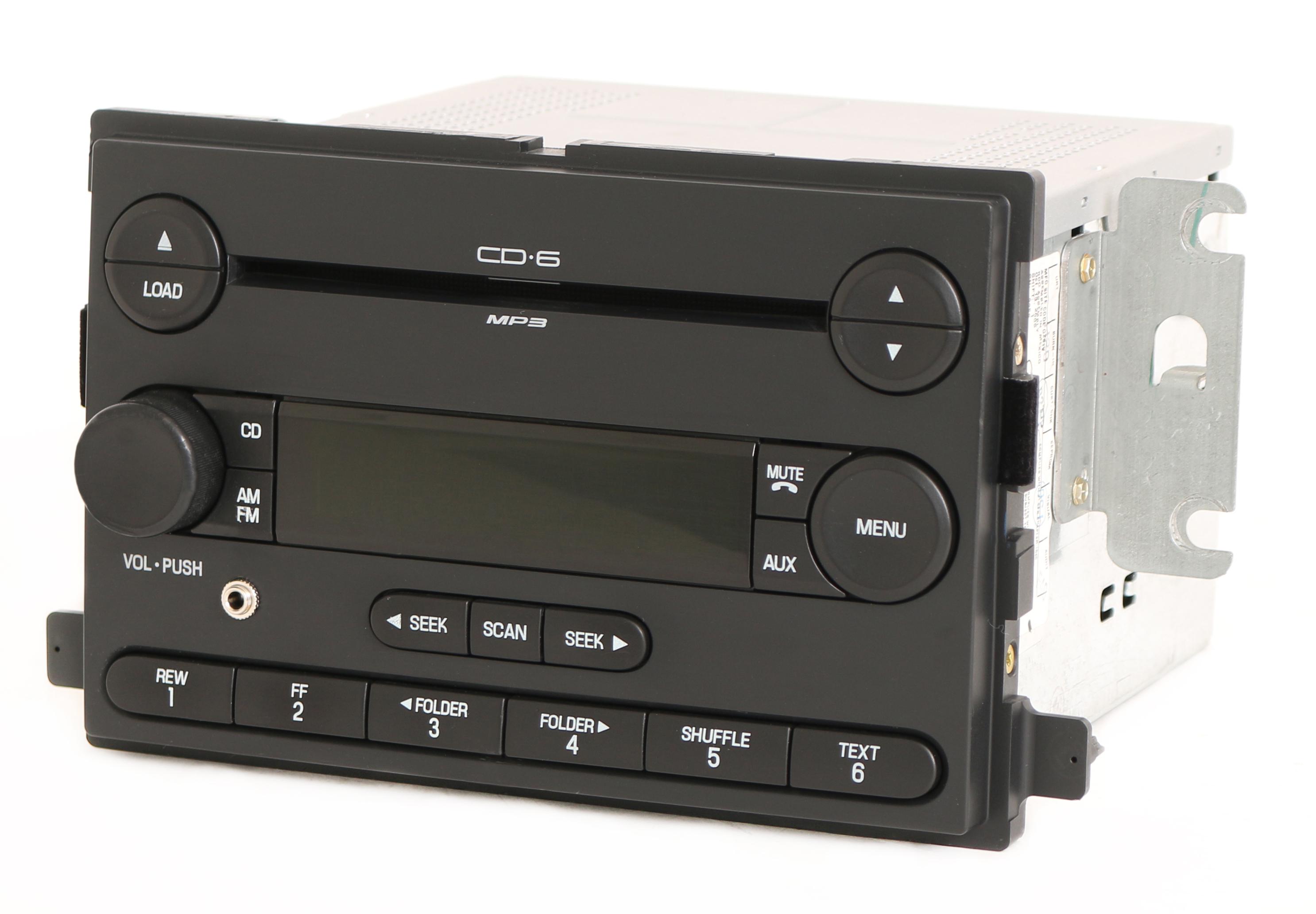 Ford Focus 2006-2007 Radio AM FM 6 Disc CD Player w Aux Input PN  6S4T-18C815-AD - 1 Factory Radio