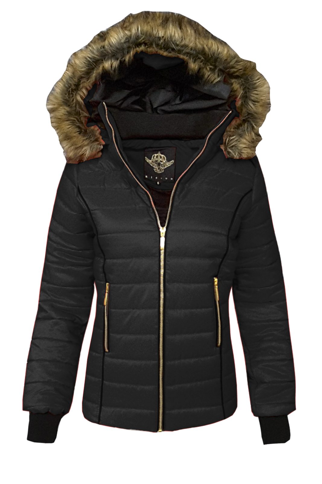 Catch One Ladies Womens Puffer Bomber Coat Padded Quilted