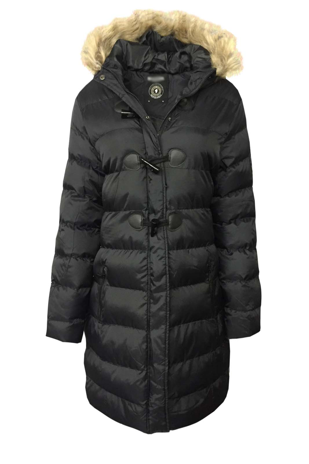 Ladies New Parka Faux Fur Hooded Jacket Warm Puffer Padded