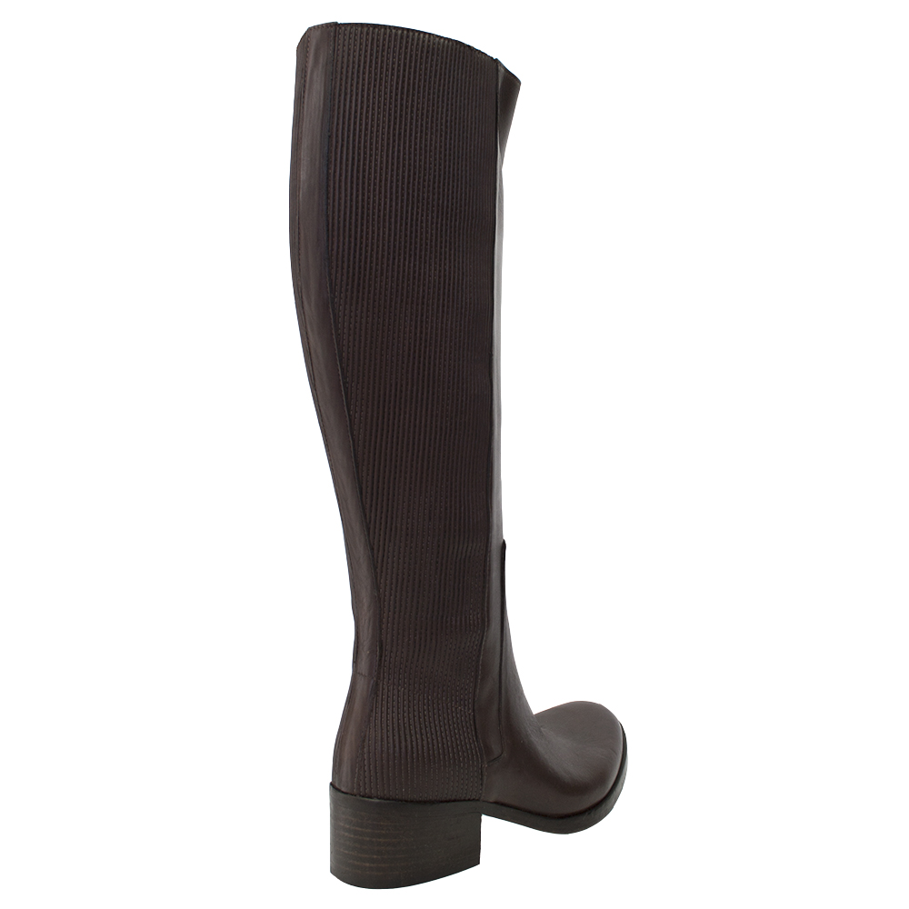 New New New  8100 MelRosa Ribbed Elastic Leather Side Zip Tall Stiefel f9a12a