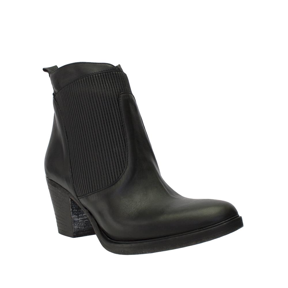 Italian 8100 Melrose Leder Ribbed Elastic Leder Melrose Ankle Boot 9ab124