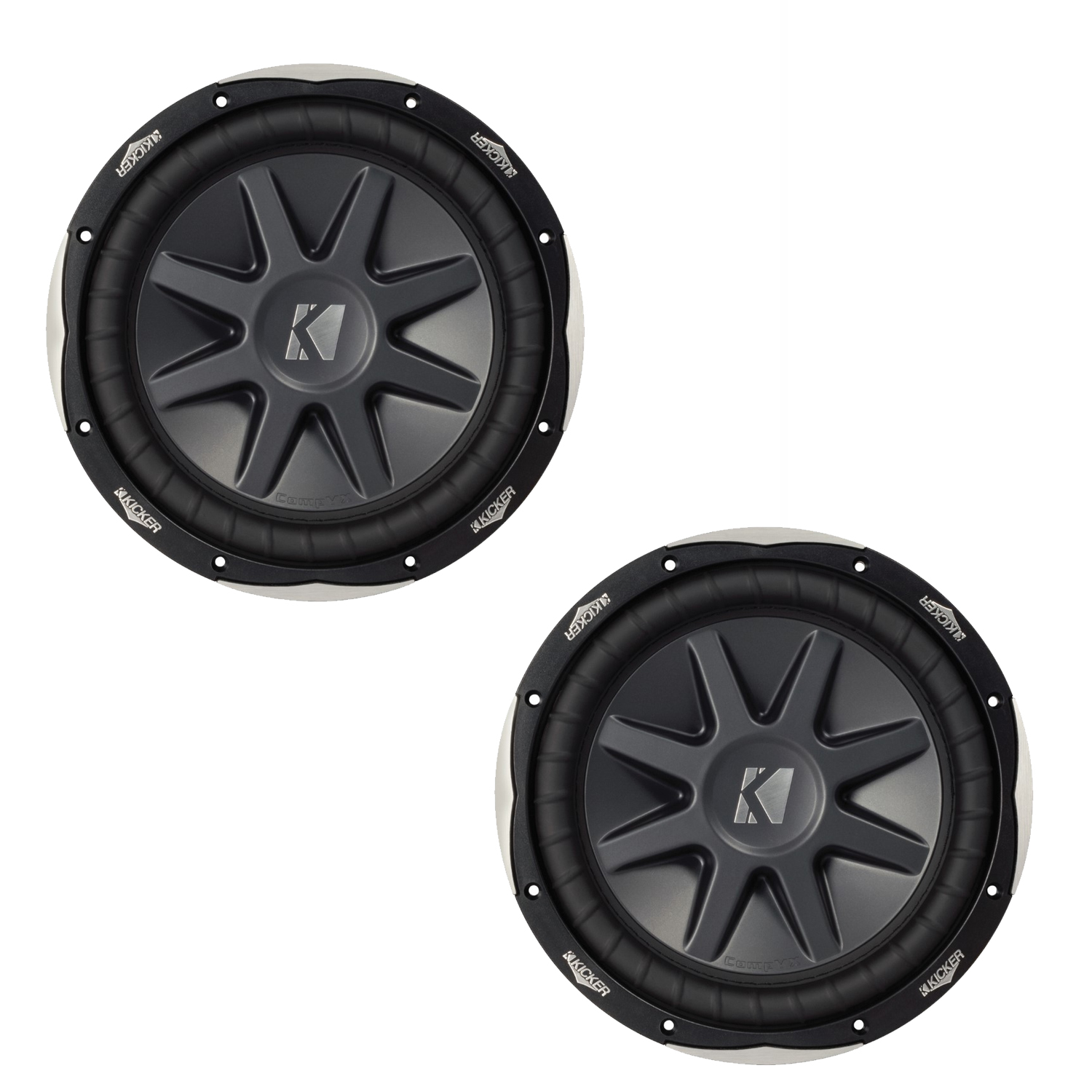 Kicker 10cvx102 Cvx 10 Subs Dual 2 Ohm Voice Coils For Wiring To How Wire 4 Coil Harness Compvx Subwoofers Bundle A Monoblock Amplifier