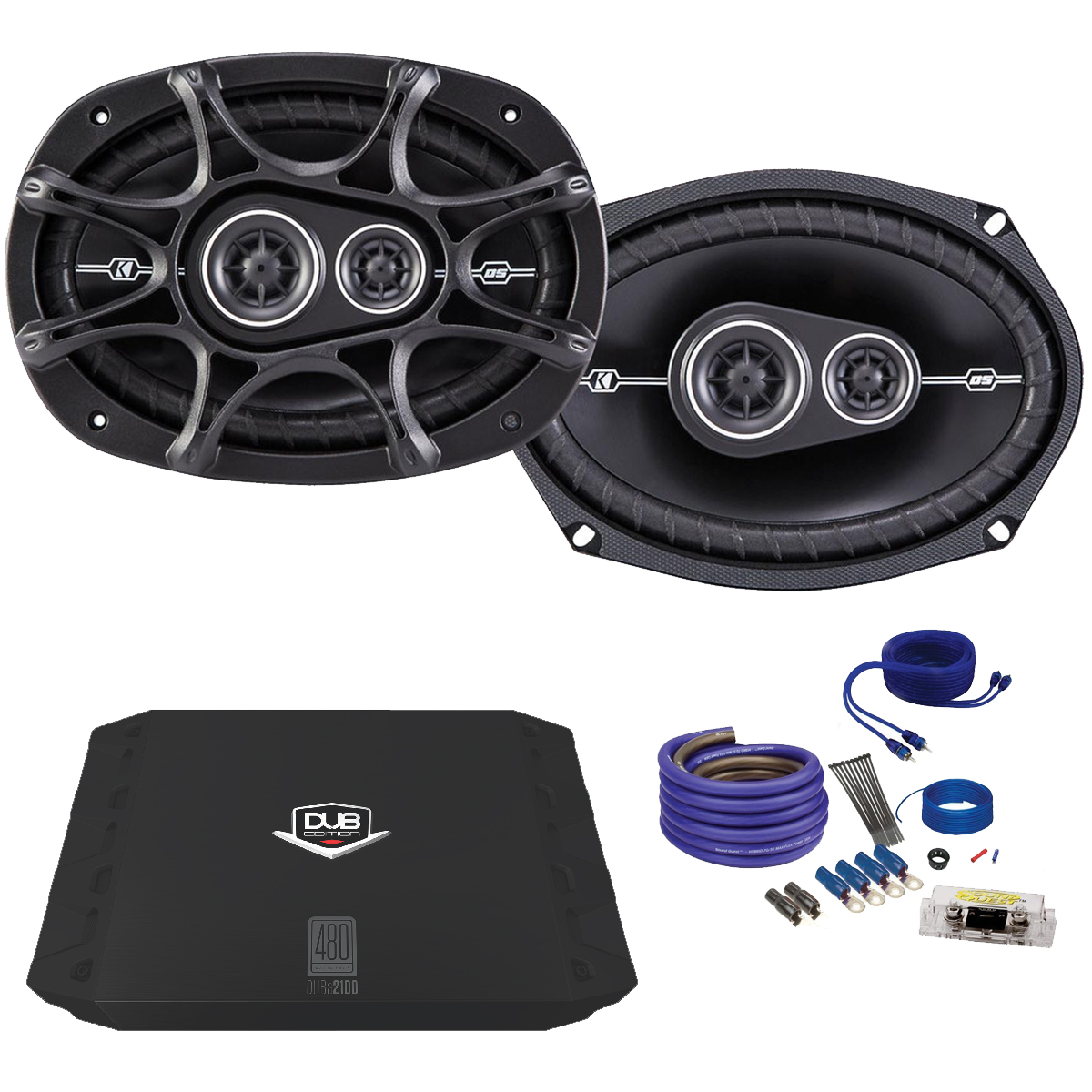 kicker dsc 6x9 speaker package dsc 6x9s dub 200w 2. Black Bedroom Furniture Sets. Home Design Ideas