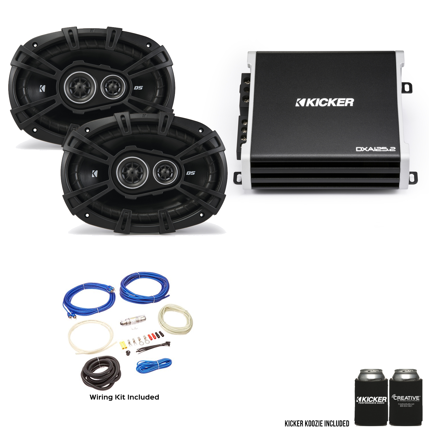 "Details about Kicker 43DSC69304 6x9"" DS-Series Speakers with 43DXA1252 on kicker shocks kit, kicker wiring-diagram, kicker wiring guide, kicker repair kit, kicker motor kit, kicker wiring specs, kicker amplifier, kicker mounts,"