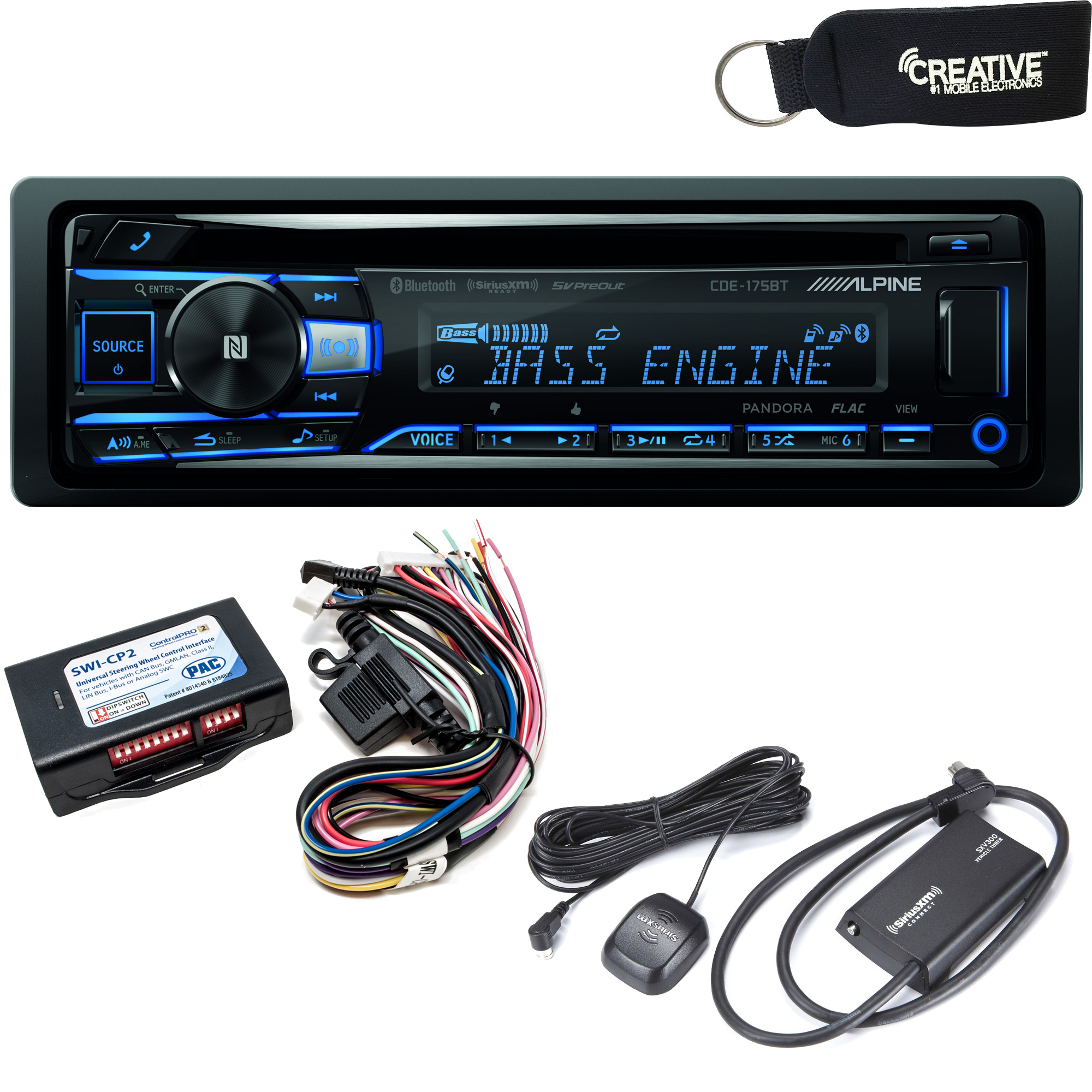 Includes SWI-RC Steering Wheel Control Interface JVC KD-R990BTS CD Receiver w//Bluetooth