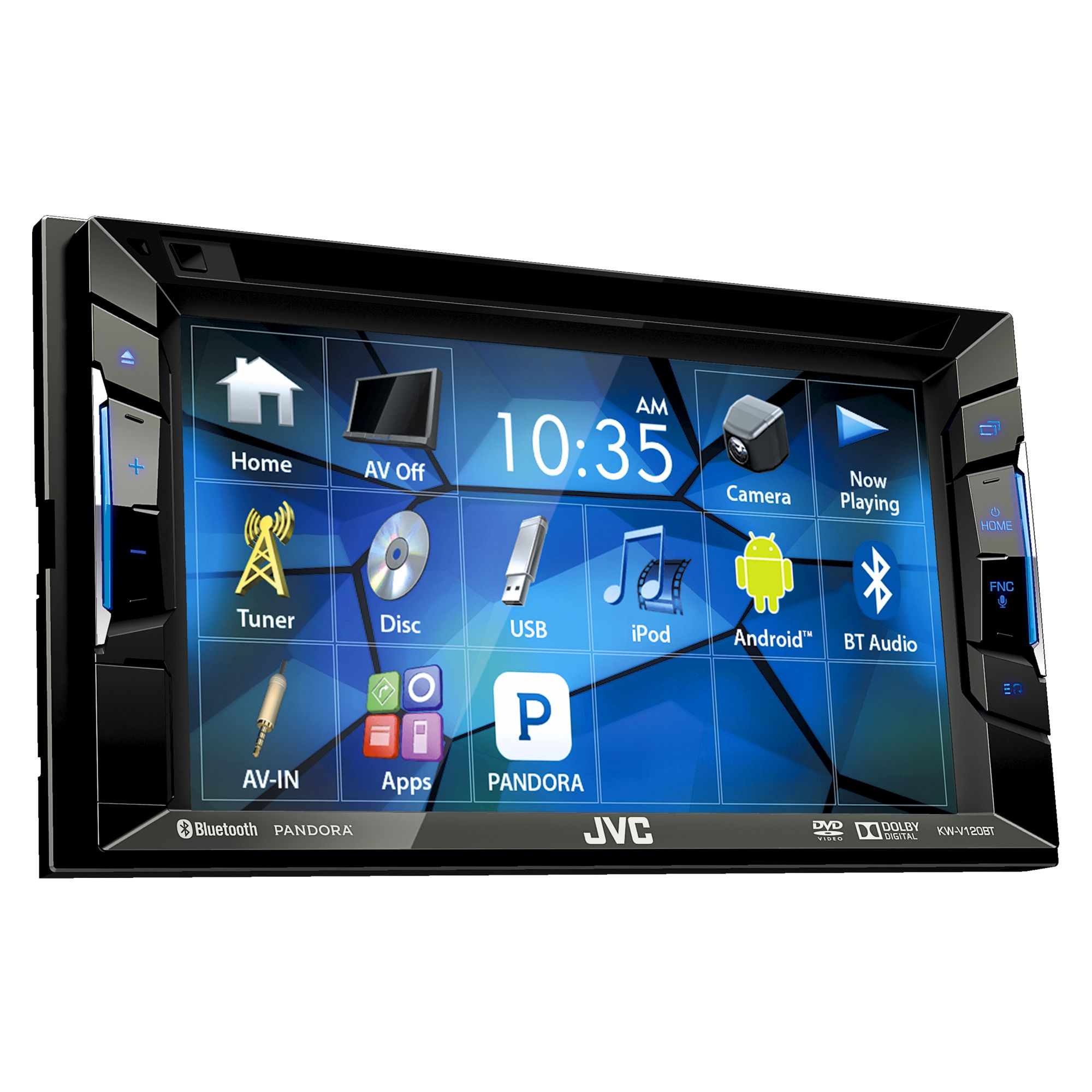 $169.45 - JVC KW-V120BT Double DIN Bluetooth In-Dash DVD/CD/AM/FM Car Stereo