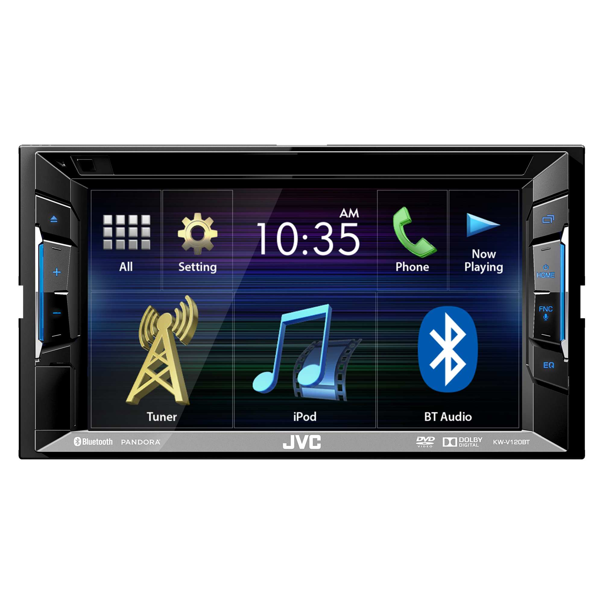 JVC KW-V120BT Double DIN Bluetooth In-Dash DVD/CD/AM/FM Car Stereo