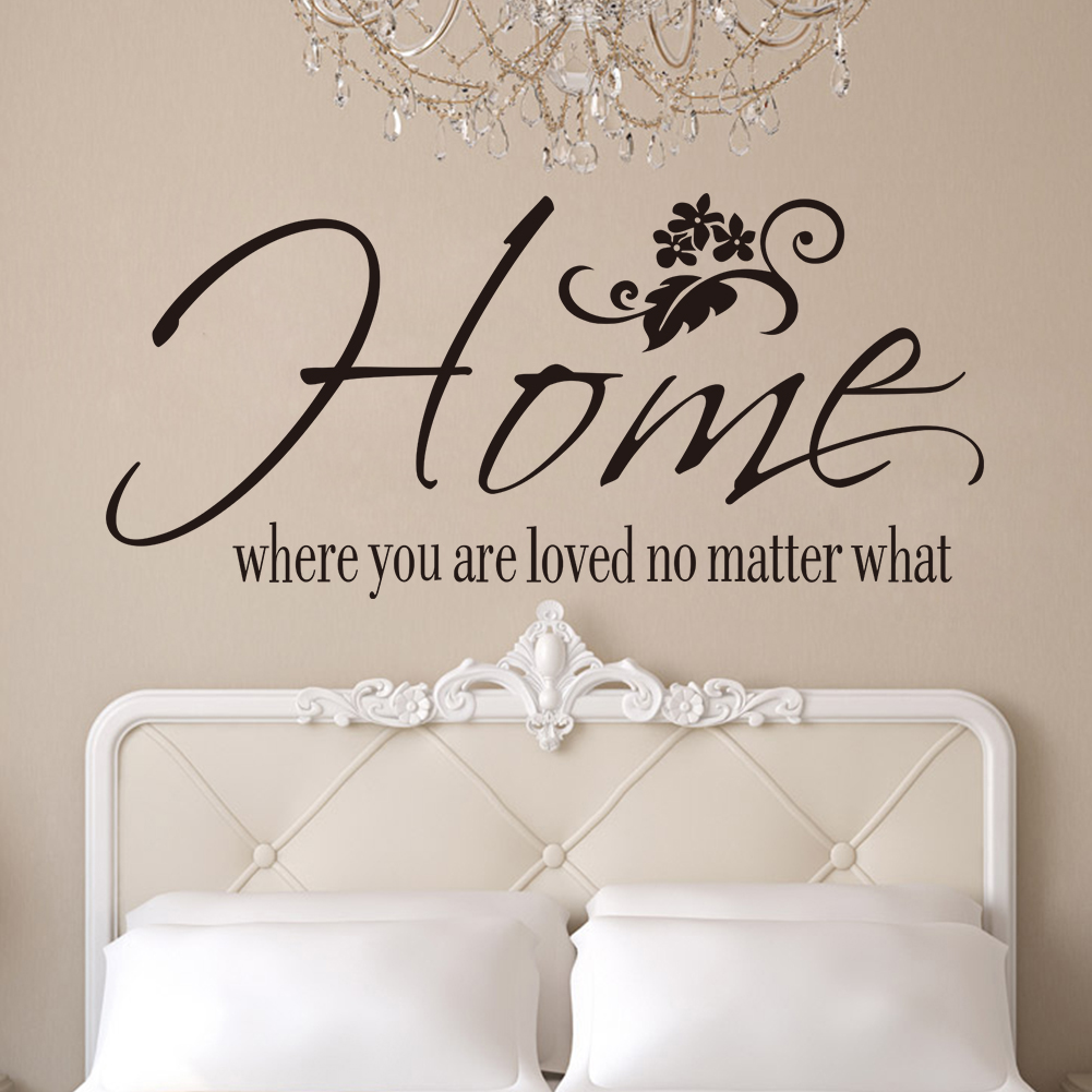 Vinyl Beautiful Home English Quotes Removable Home Decal