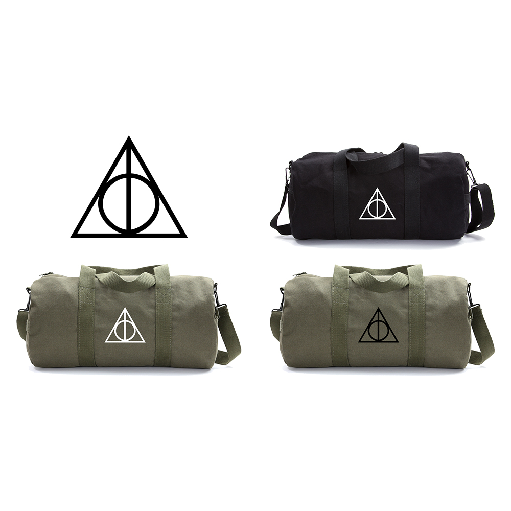 Harry Potter Deathly Hallows Symbol Durable Canvas Military Duffle