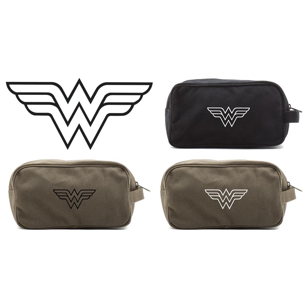 Wonder woman symbol canvas shower kit travel toiletry bag case ebay responsive image biocorpaavc Images