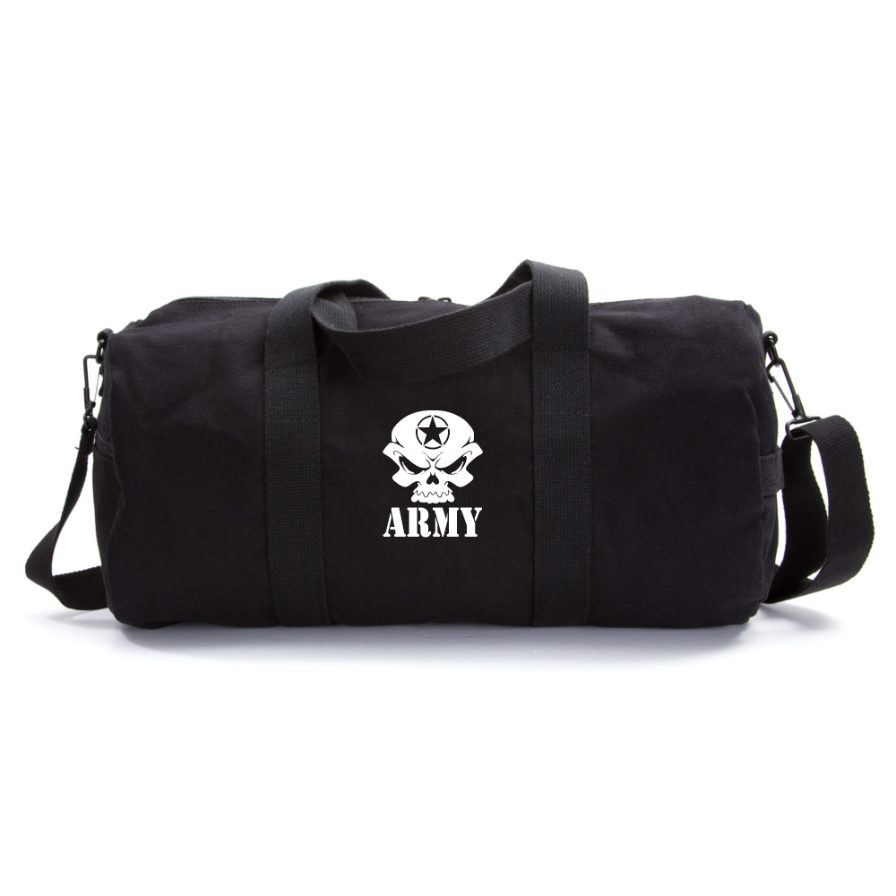 5dbd22e18f US Army Skull Sport Heavyweight Canvas Duffel Bag Black   White (large).  About this product. Picture 1 of 7  Picture 2 of 7 ...