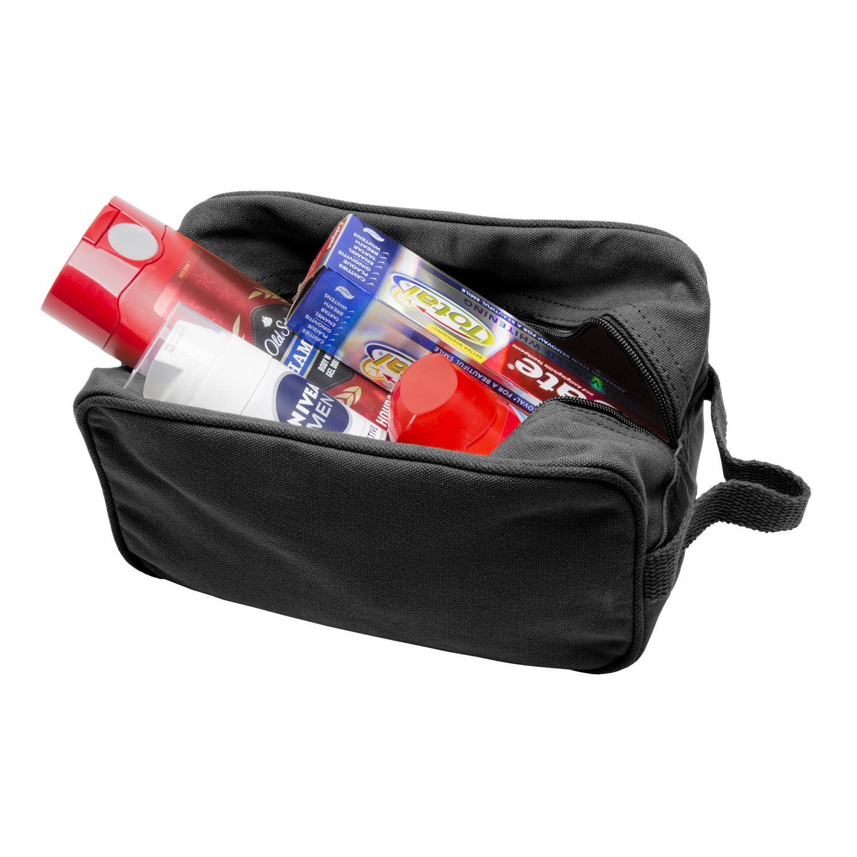 Mustache canvas shower kit travel toiletry bag case ebay for 2 case kit di storia