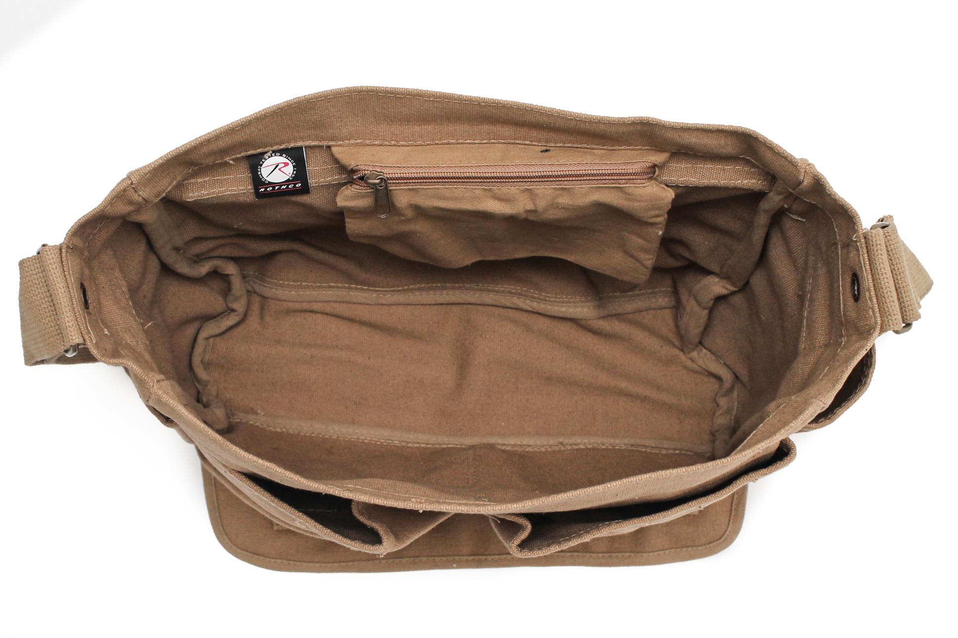 Pug Life Puppy Heavyweight Canvas Messenger Shoulder Bag