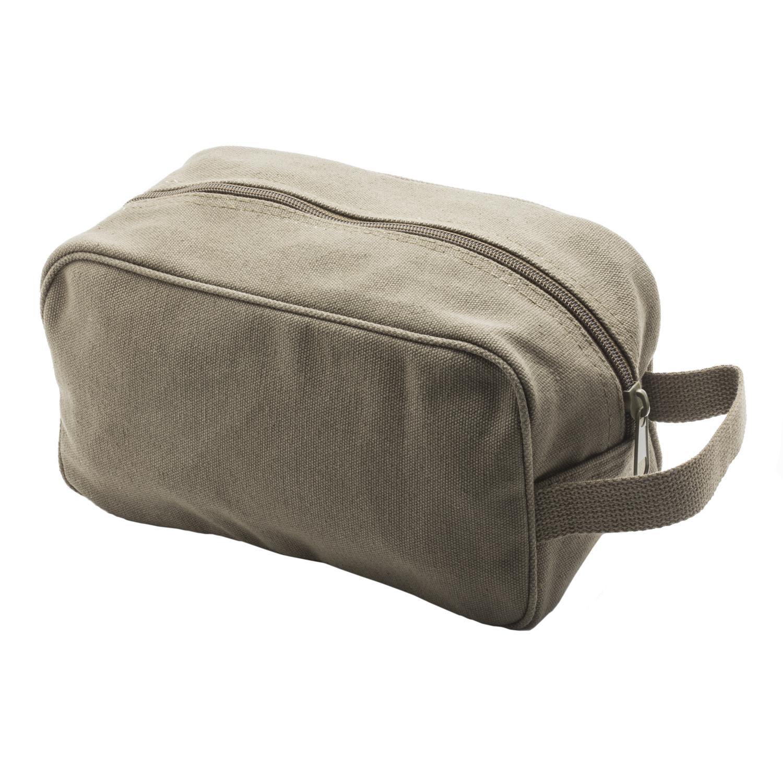 TEAM-INSTINCT-Canvas-Shower-Kit-Travel-Toiletry-Bag-Case thumbnail 8