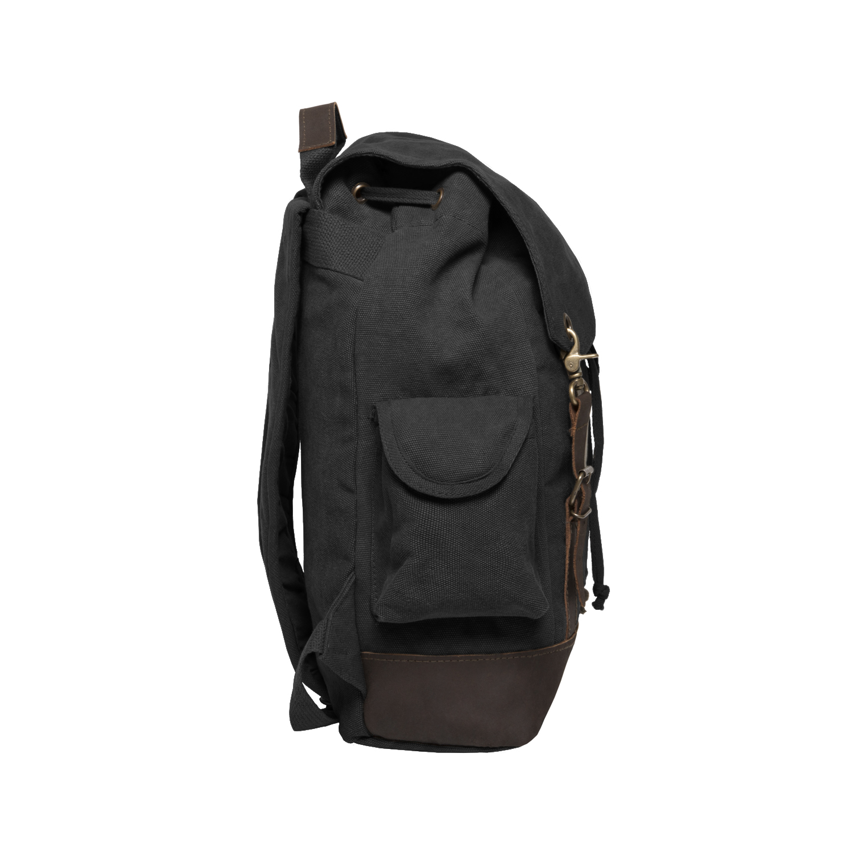 Hammerhead Shark Vintage Canvas Rucksack Backpack with Leather Straps