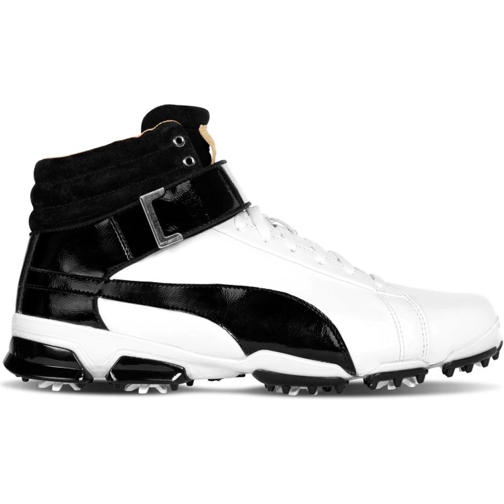 Puma Rickie Fowler Ignite Hi Top Junior Jr Kids Golf Shoes 190179 White Black Ebay