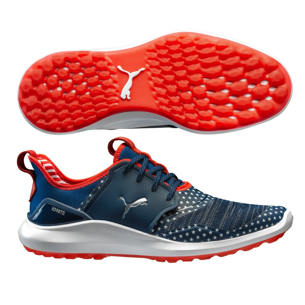 0c07203e Details about Puma Ignite NXT Men's Golf Shoes 192975 Patriot Pack -  Red/White/Blue