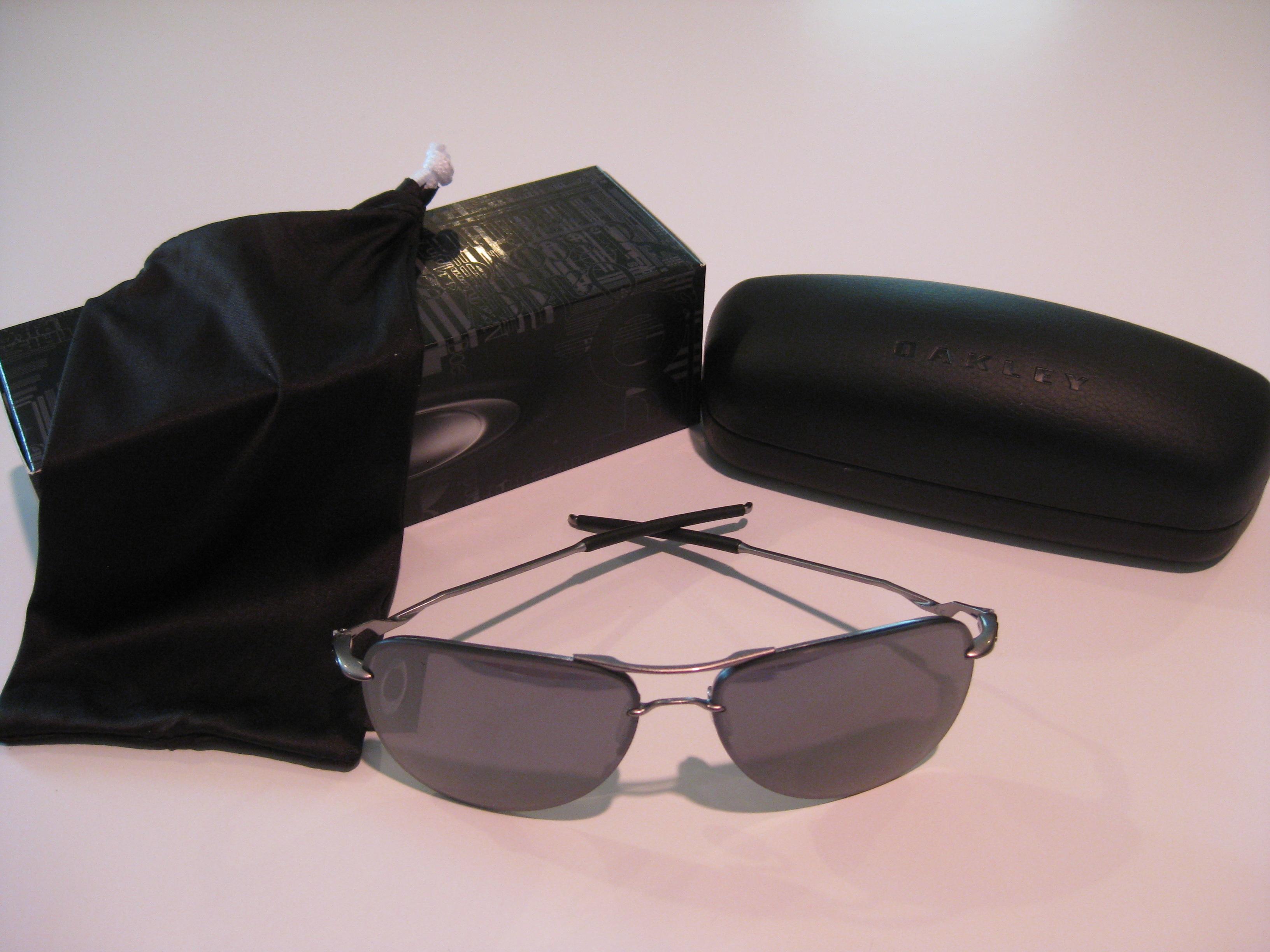 0ee86ac712 New Oakley Tailpin Sunglasses Lead Black Iridium OO4086-01