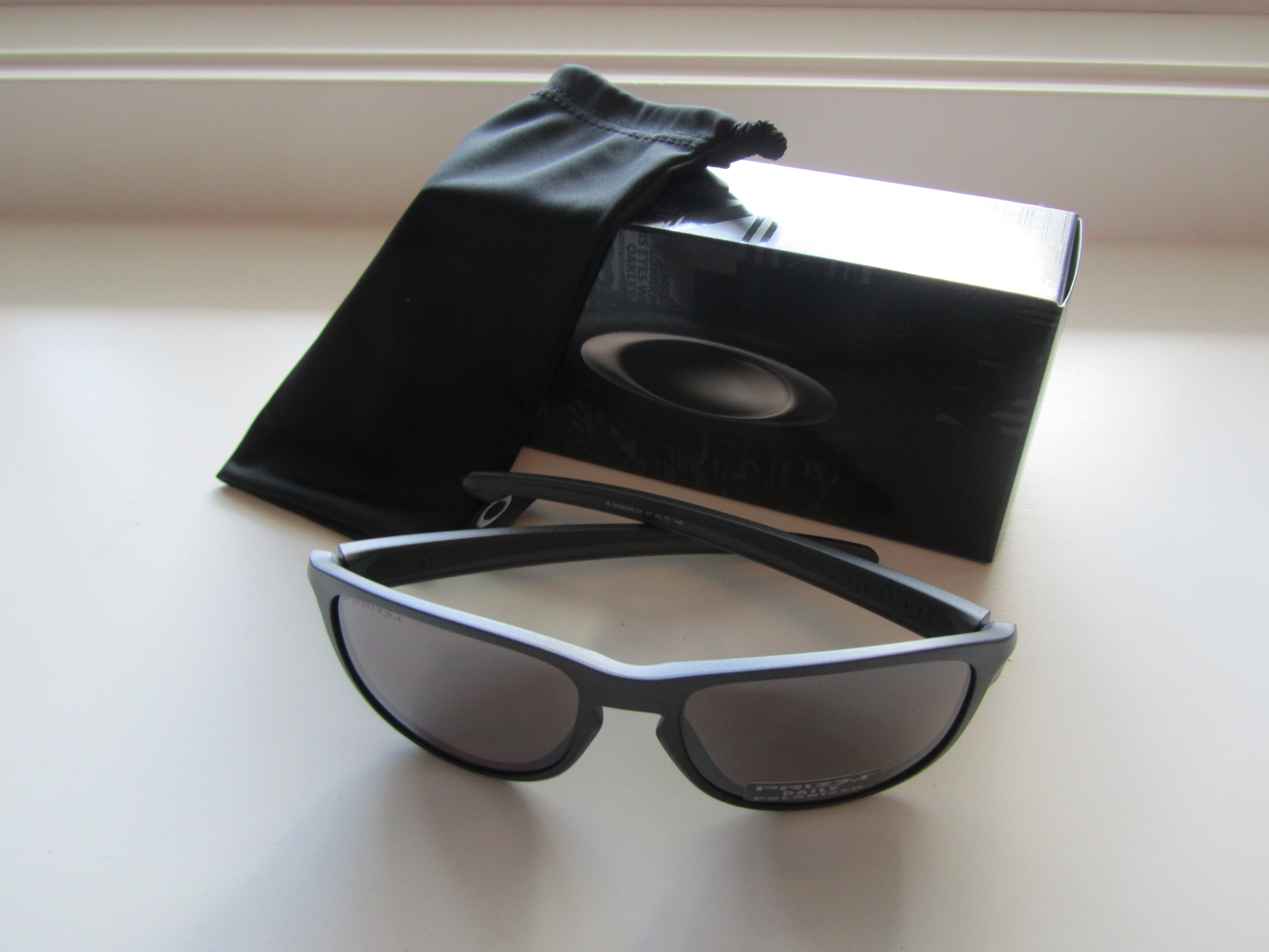 255640c2023 New Oakley Sliver R Sunglasses Steel Prizm Daily Polarized OO9342-08 ...