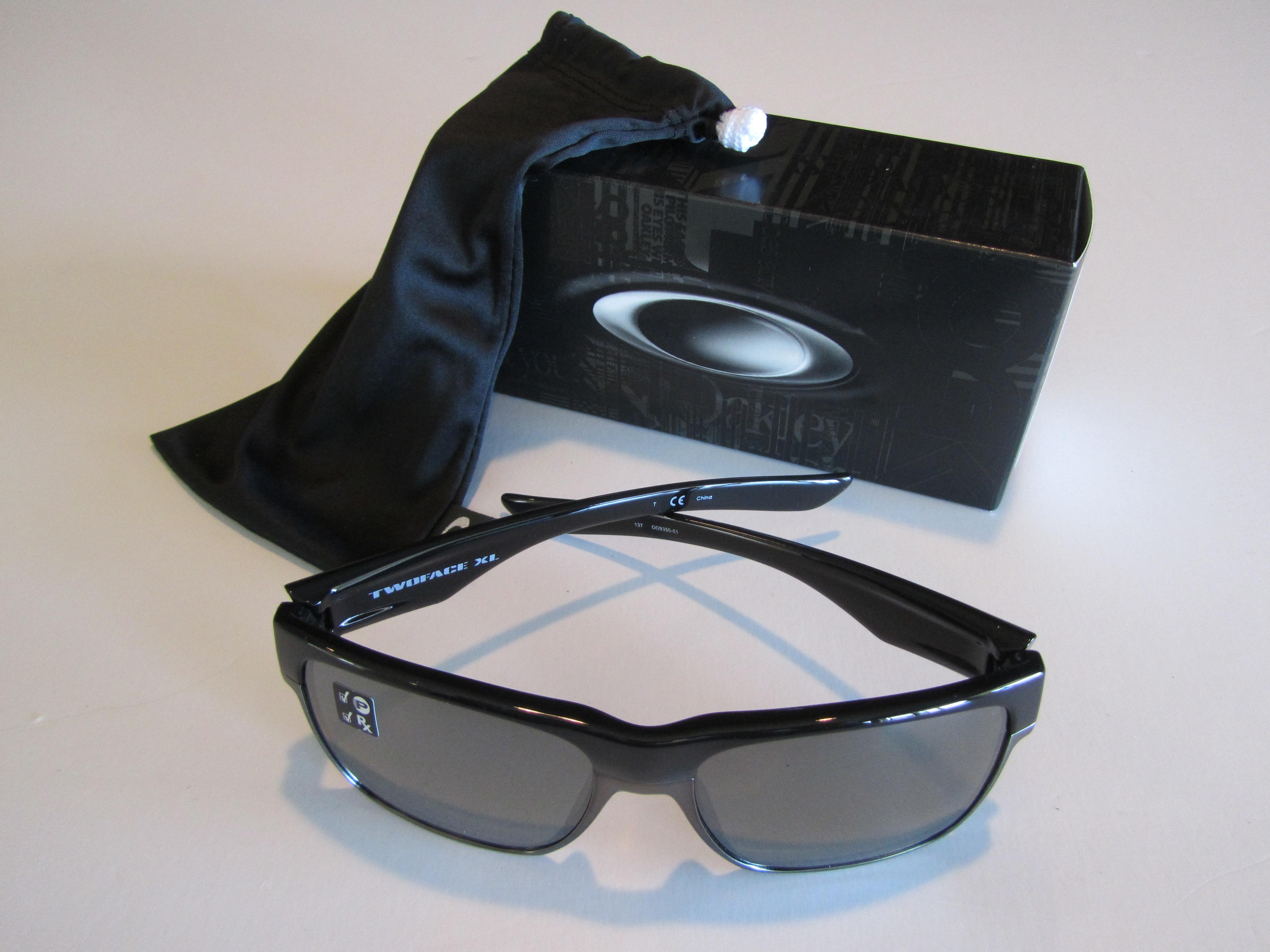 091b4a652f Oakley Two Face XL Sunglasses Polished Black Iridium Polarized ...