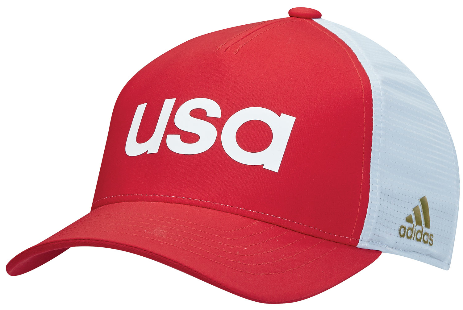 New Adidas Golf 2016 Olympic USA Climacool Flexfit Fitted Cap - Red ... 8fdbd6cd865