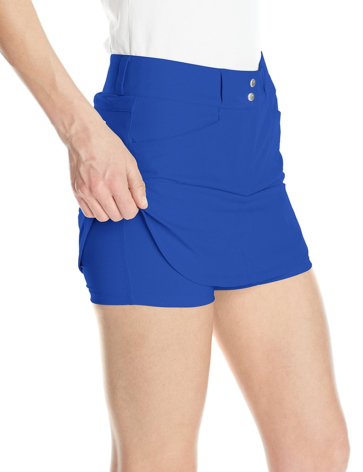 Adidas-Golf-Women-039-s-Essentials-3-Stripes-Skort-Pick-Size-amp-Color thumbnail 9