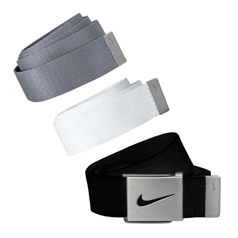 Nike Golf Men's 3 in 1 Web Pack Belts, One Size Fits Most - Select Colors! White/Grey/Black