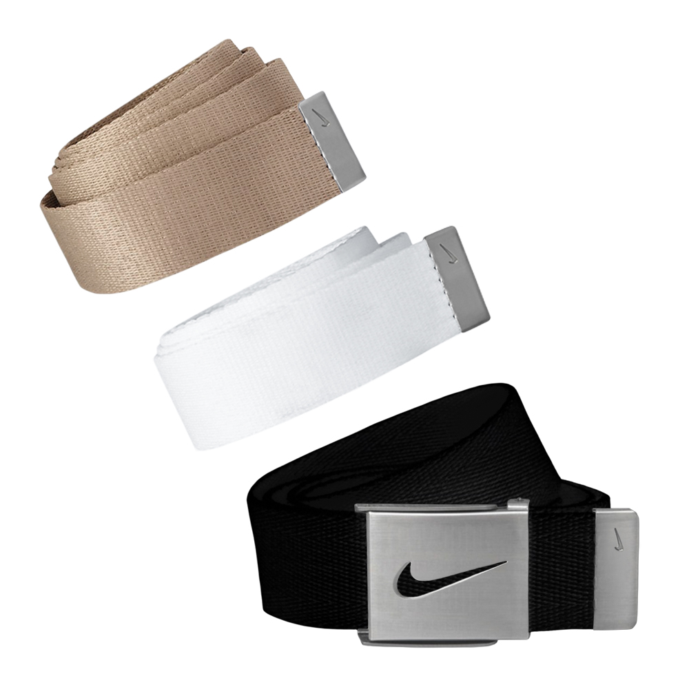 Nike Golf Men's 3 in 1 Web Pack Belts, One Size Fits Most - Select Colors! Black/White/Khaki