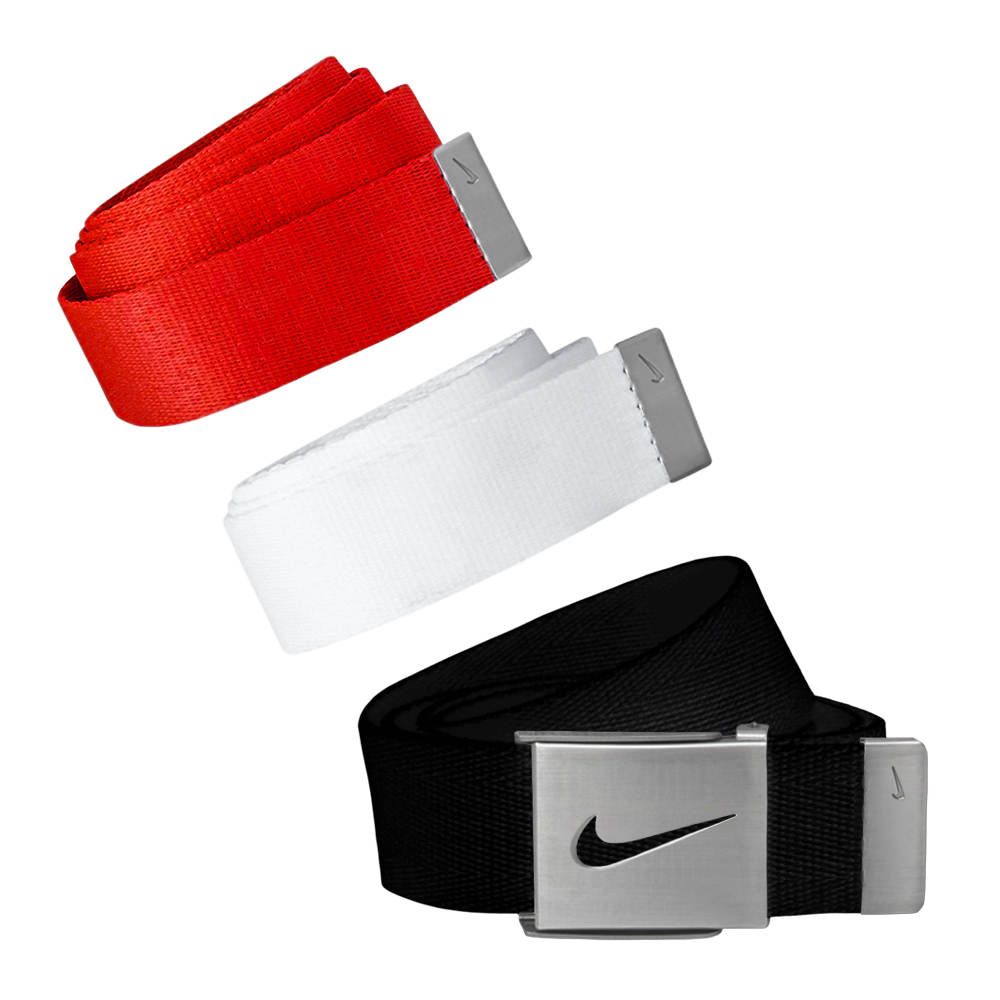 Nike Golf Men's 3 in 1 Web Pack Belts, One Size Fits Most - Select Colors! Red/Black/White