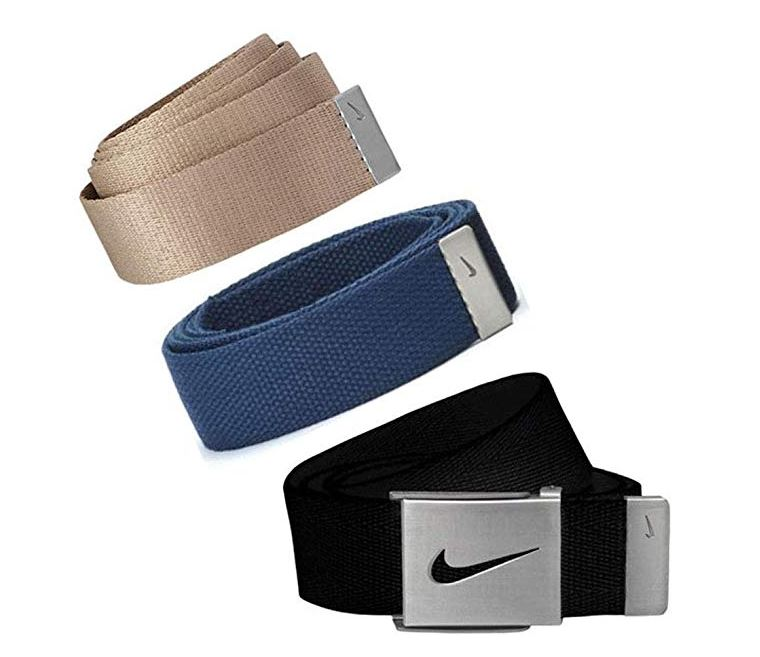 Nike Golf Men's 3 in 1 Web Pack Belts, One Size Fits Most - Select Colors! Navy/Black/Khaki