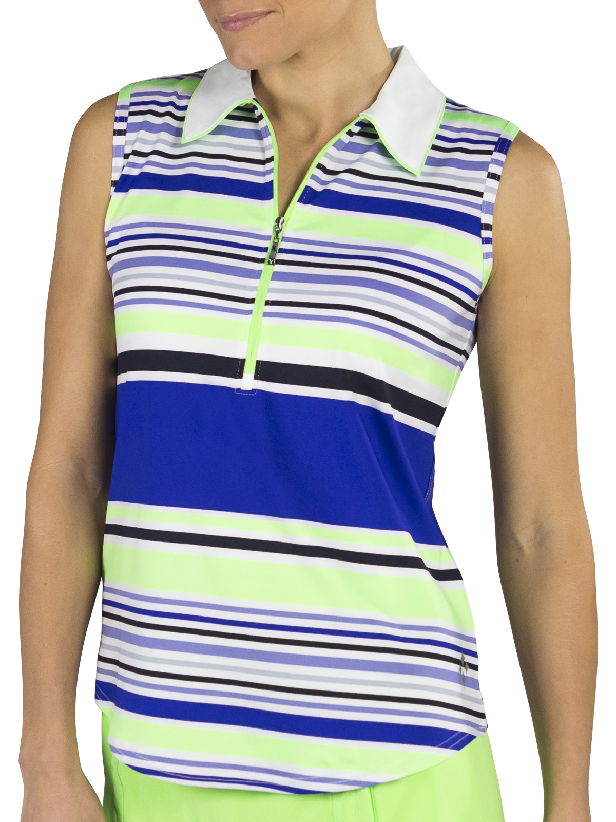 3b5d73d55ab2e7 Earn your style points during your next round wearing the Jofit Tipped  Stripe golf polo. With soft jersey fabric and moisture-wicking protection  that dries ...