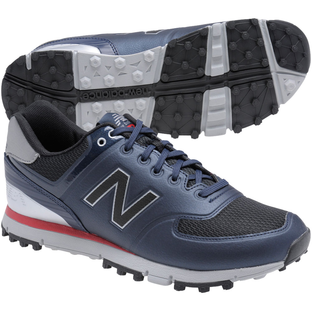 newest f5465 bccb7 ... New Balance Minimus NBG518 Spikeless Mens Golf Shoes - Navy Red - 12 .