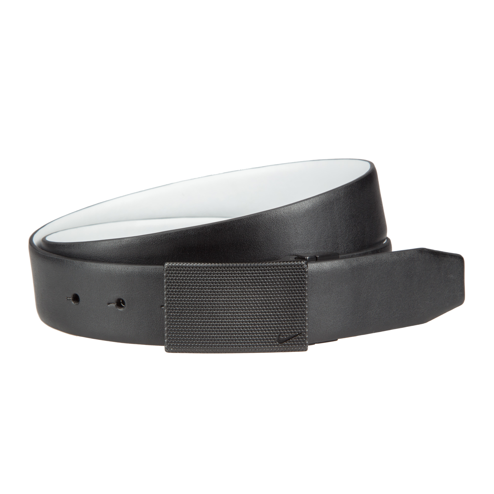 3b58dbadb78c10 Details about Nike Golf Mens SG Stealthy Plaque Reversible Belt - Black/White  - Pick Size!