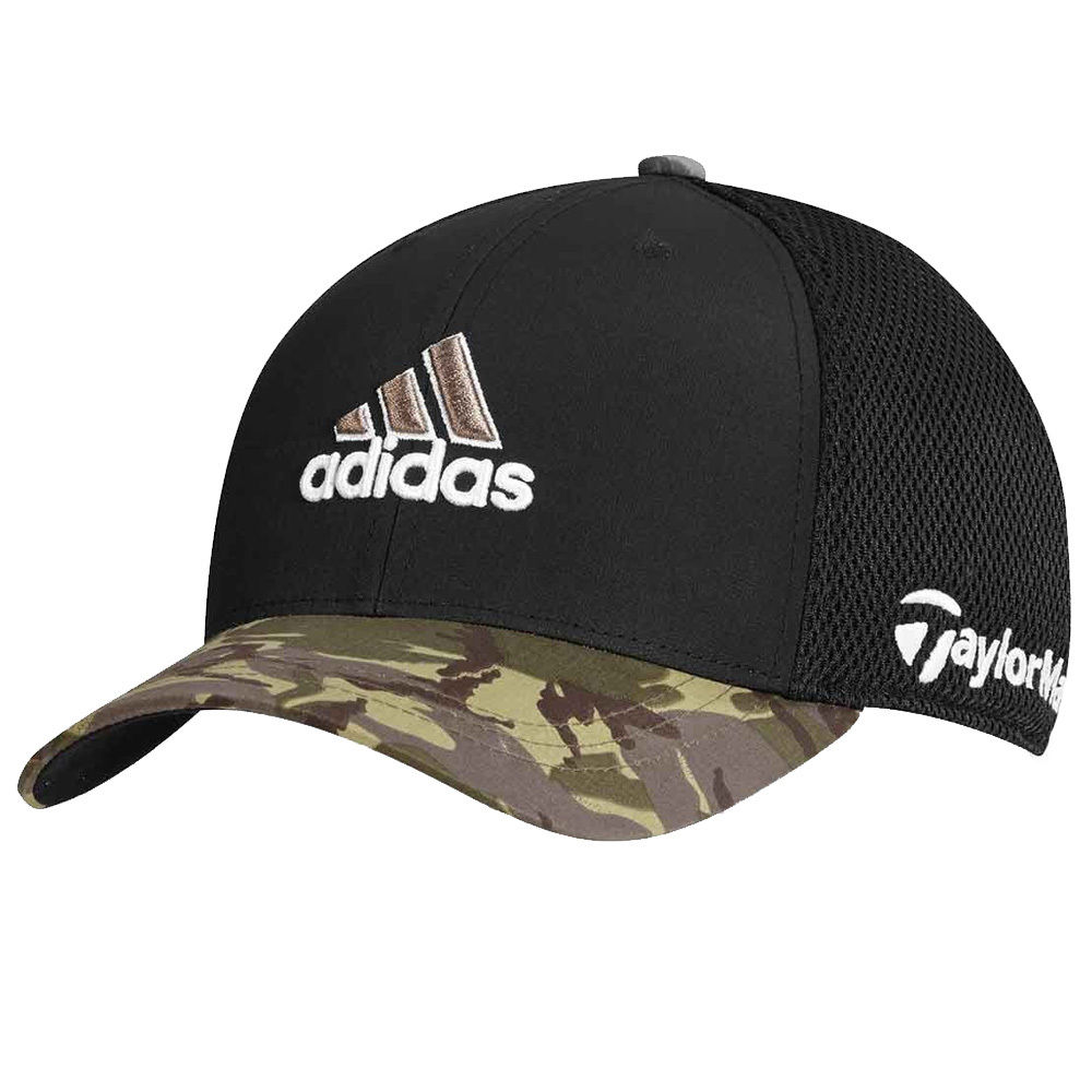 Details about TaylorMade Adidas Golf Tour Mesh FlexFit Black Camo  Camouflage Fitted Hat Cap 8a99f3006b73
