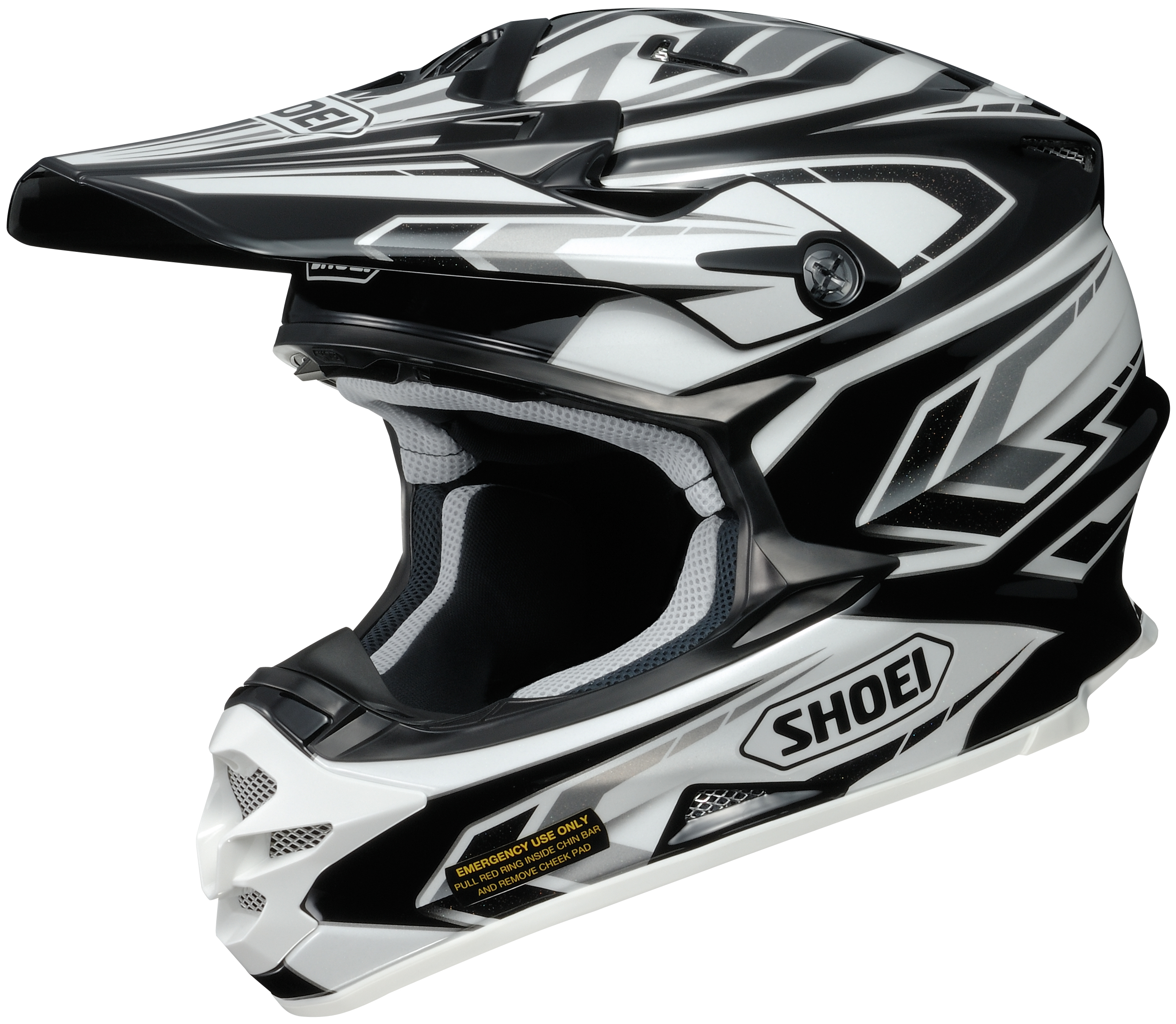 shoei vfx w block pass moto off road helmet closeout ebay. Black Bedroom Furniture Sets. Home Design Ideas