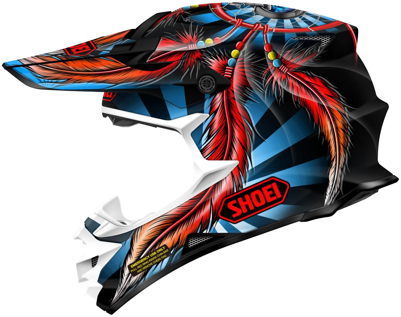shoei vfx w grant 2 off road moto helmet closeout ebay. Black Bedroom Furniture Sets. Home Design Ideas